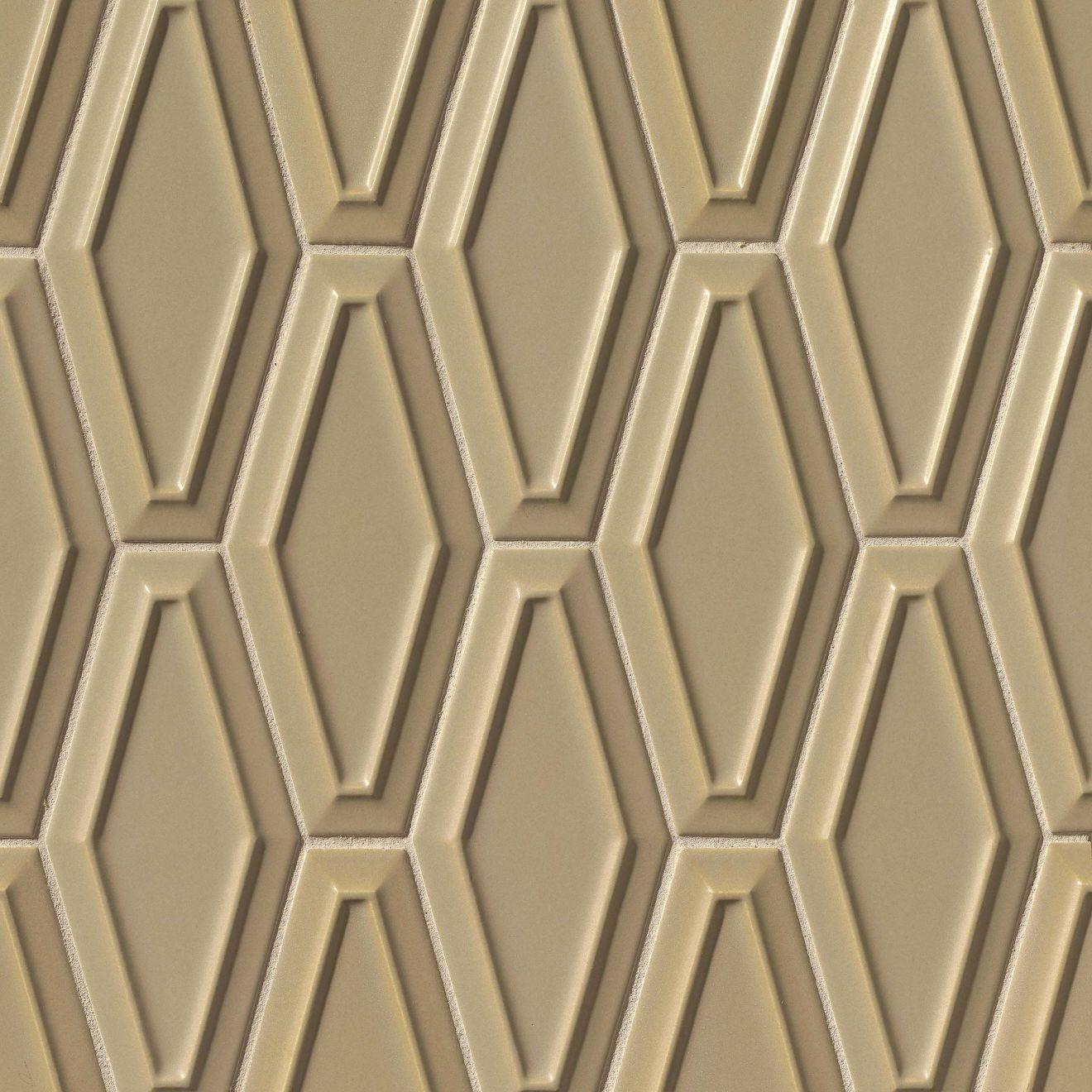 "Costa Allegra 4"" x 9"" Decorative Tile in Driftwood"
