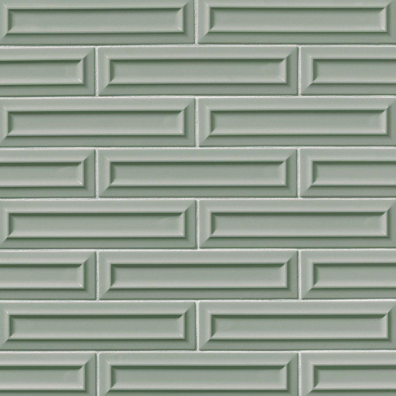 "Costa Allegra 3"" x 12"" Decorative Tile in Gulf"