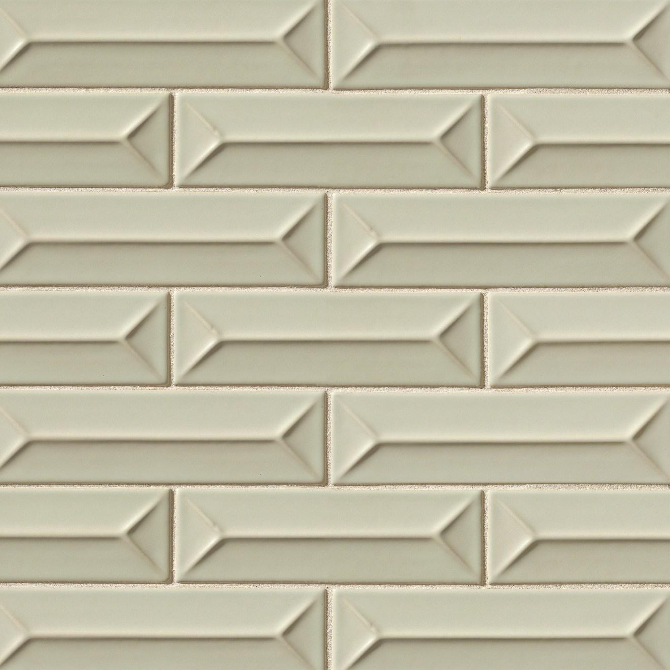 """Costa Allegra 2.5"""" x 9"""" Decorative Tile in Silver Strand"""