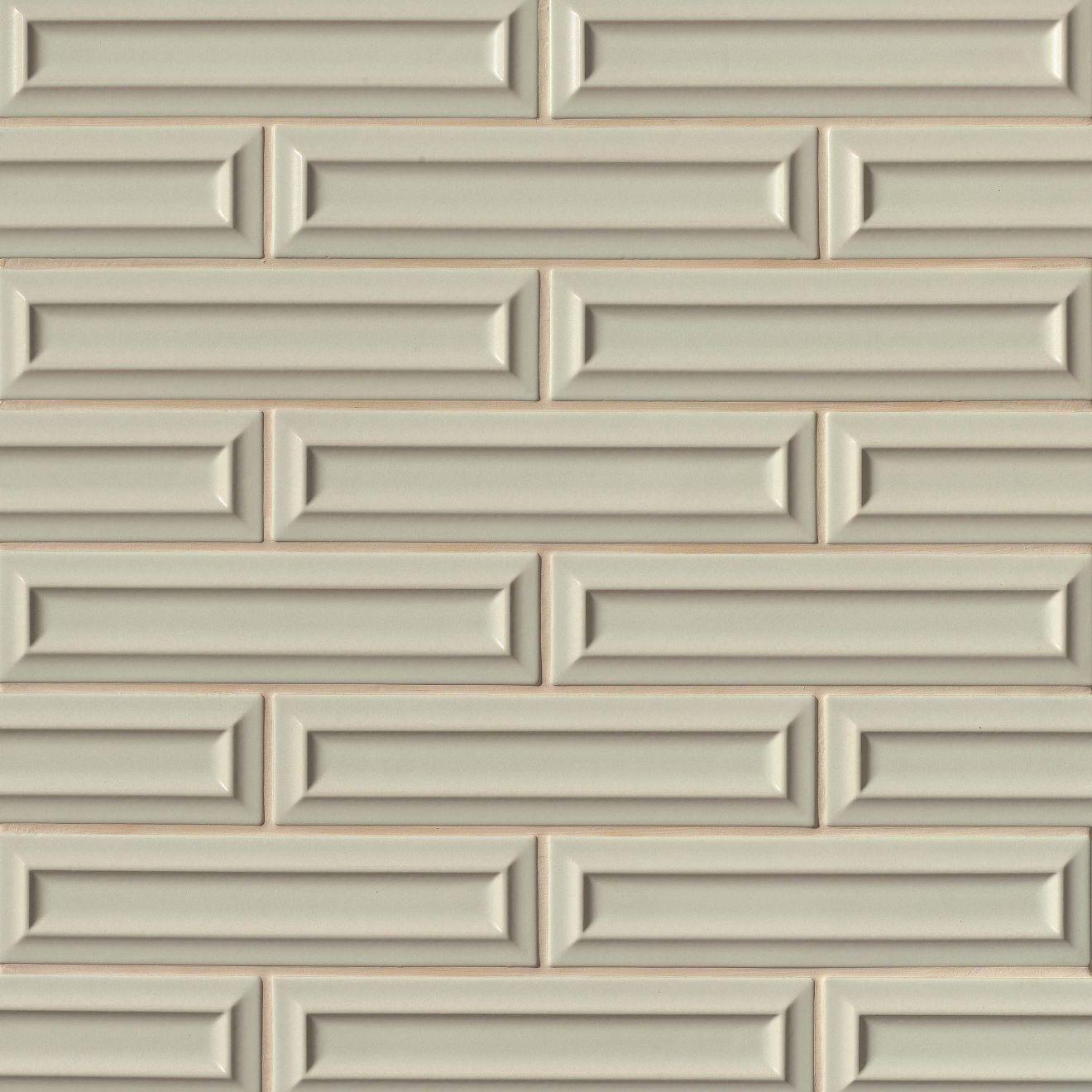 """Costa Allegra 3"""" x 12"""" Decorative Tile in Silver Strand"""