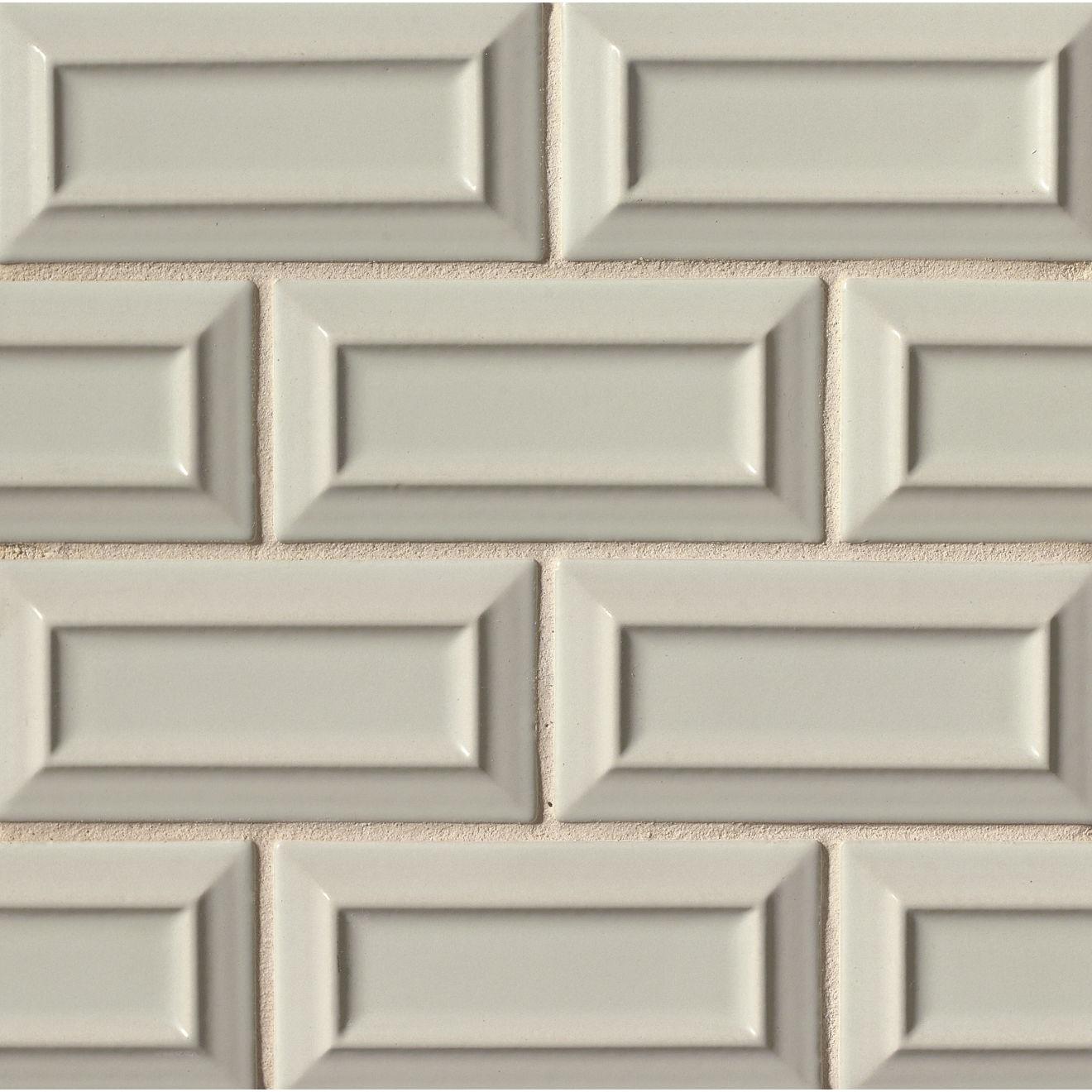 """Costa Allegra 3"""" x 6"""" Decorative Tile in Silver Strand"""