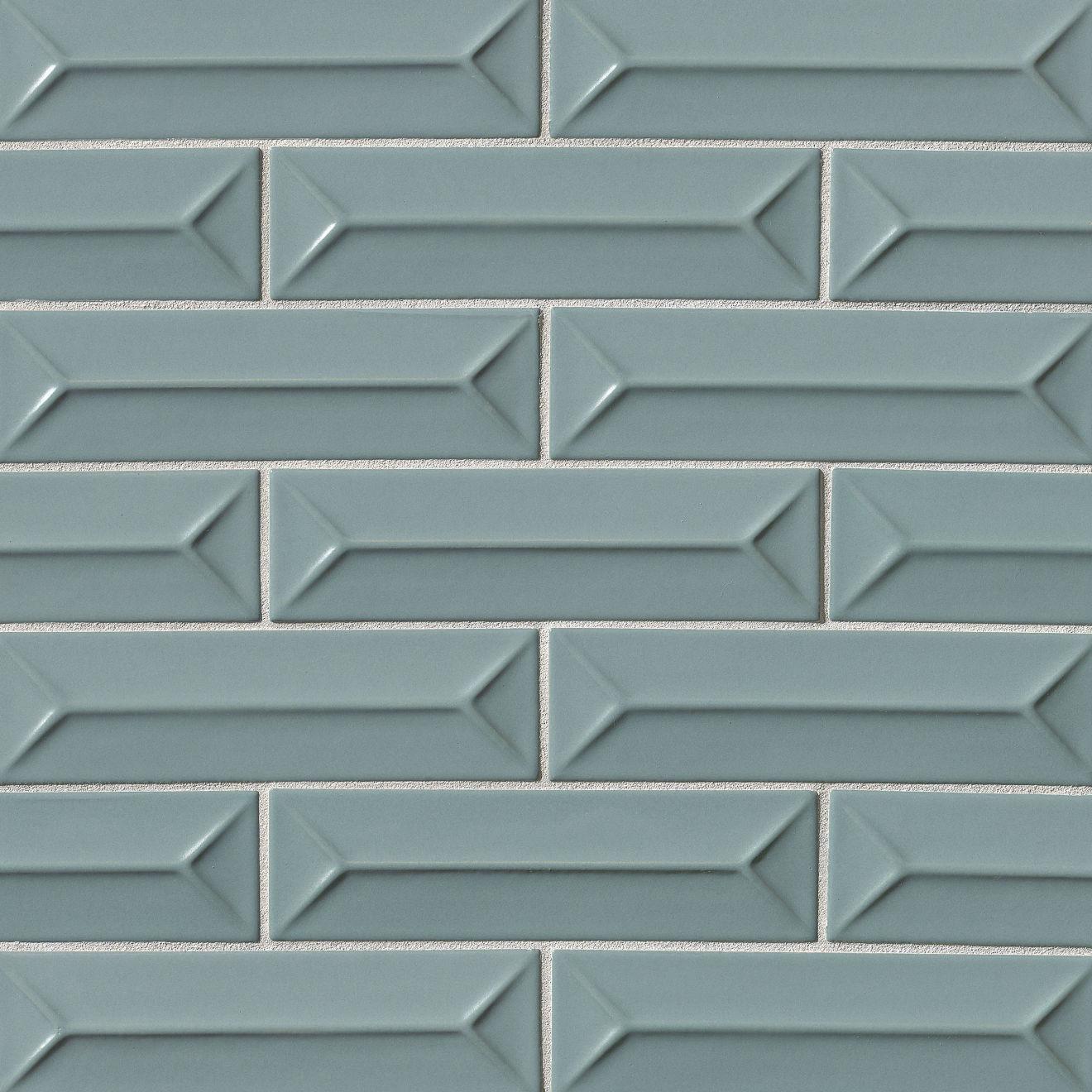 "Costa Allegra 2.5"" x 9"" Decorative Tile in Tide"
