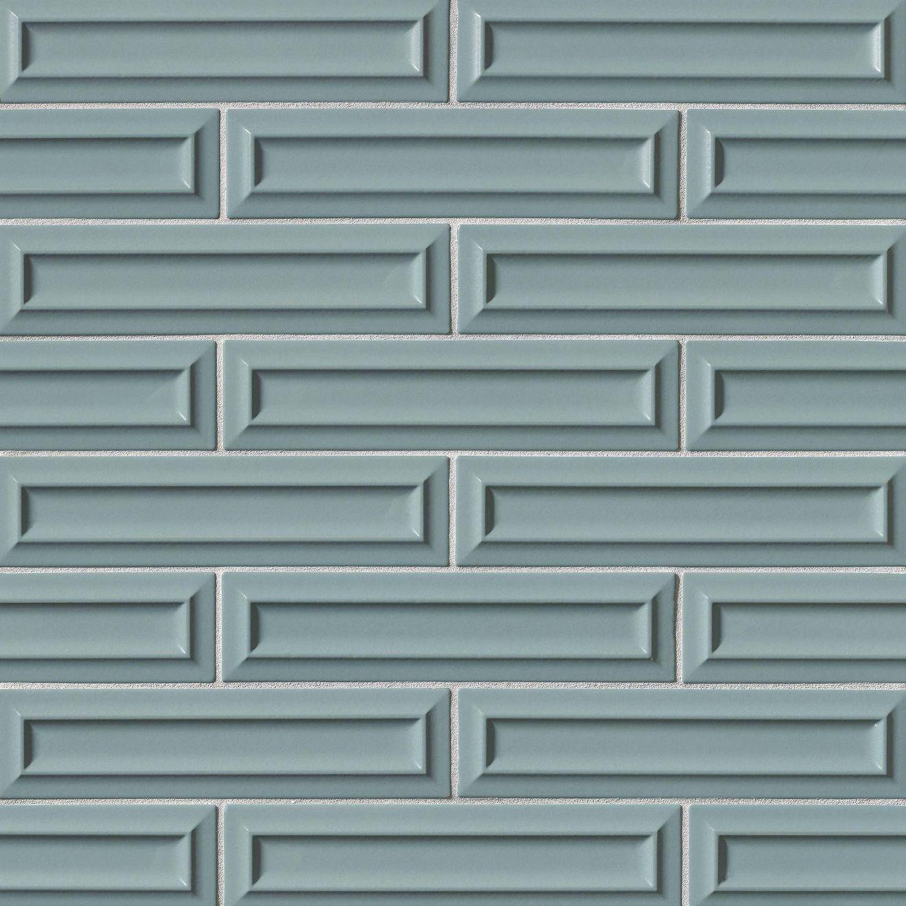"Costa Allegra 3"" x 12"" Decorative Tile in Tide"