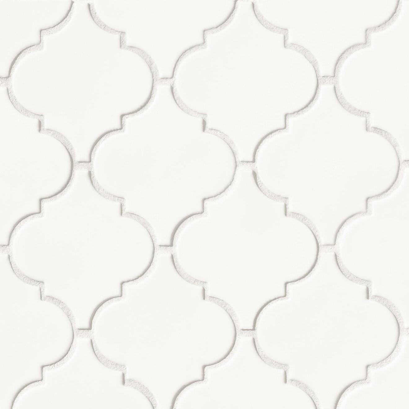 """Costa Allegra 5-1/4"""" x 4-5/8"""" Floor & Wall Mosaic in White Sand"""