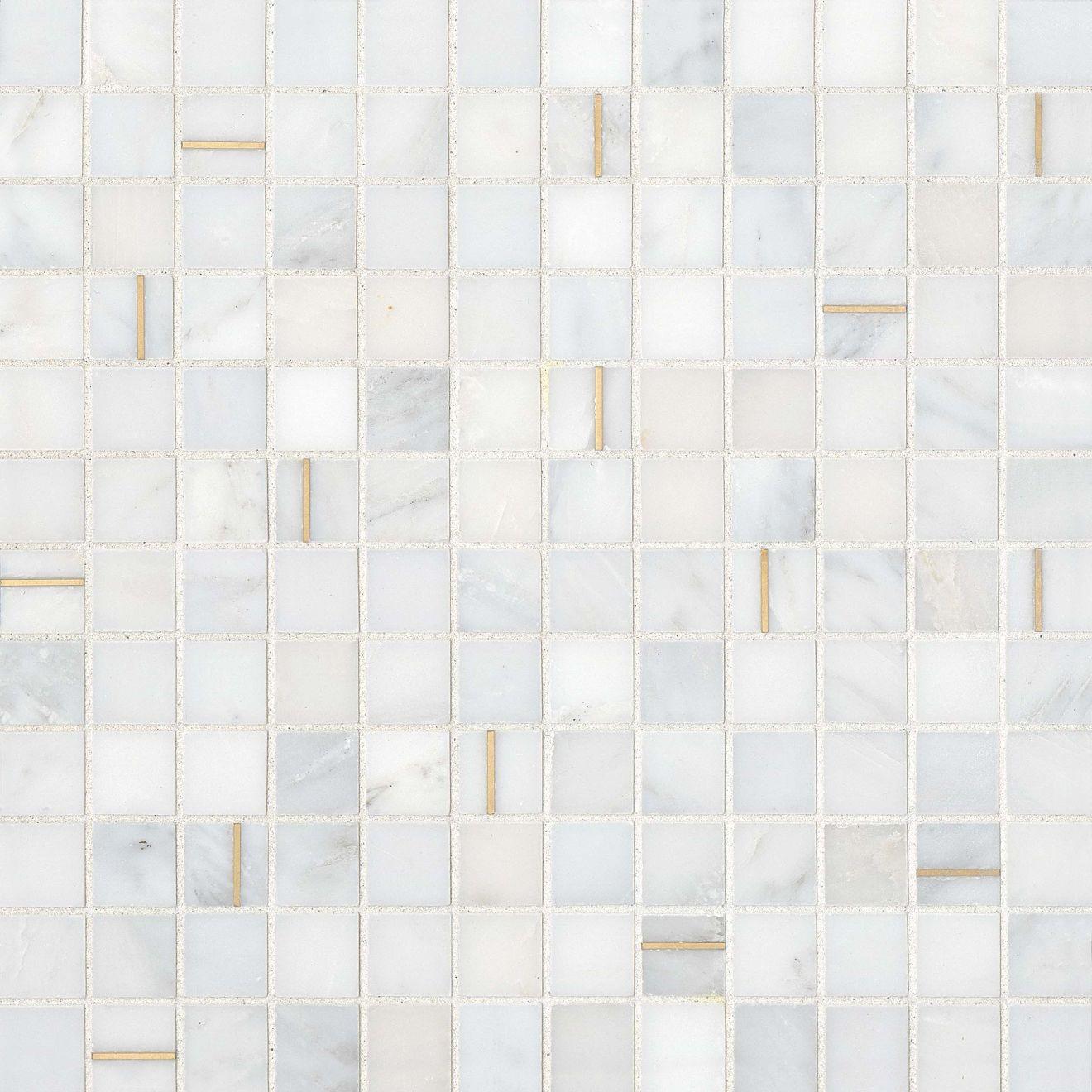 """Ferrara 1"""" x 1"""" Wall Mosaic in Bianco"""