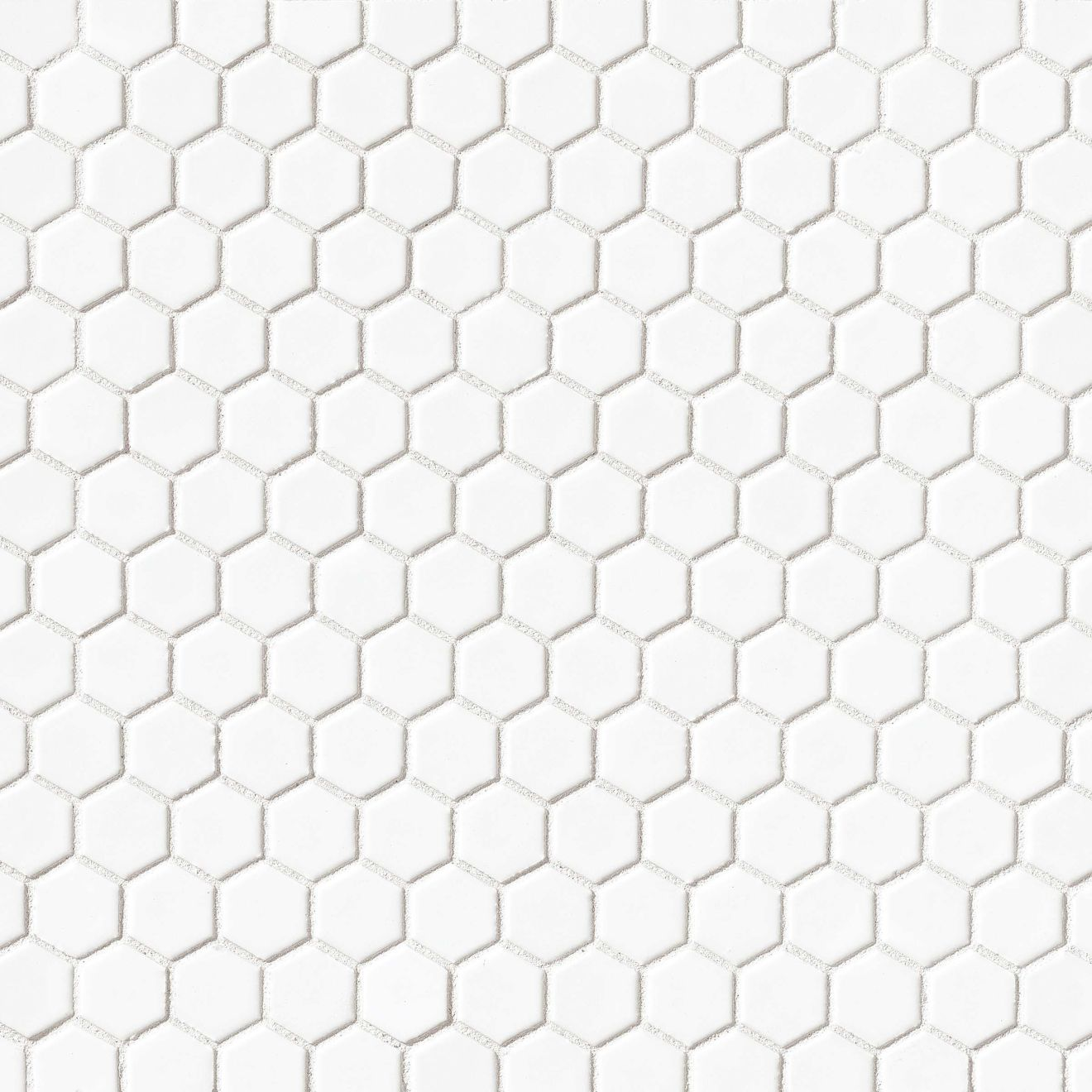 """Le Cafe 1"""" x 1"""" Floor & Wall Mosaic in White"""