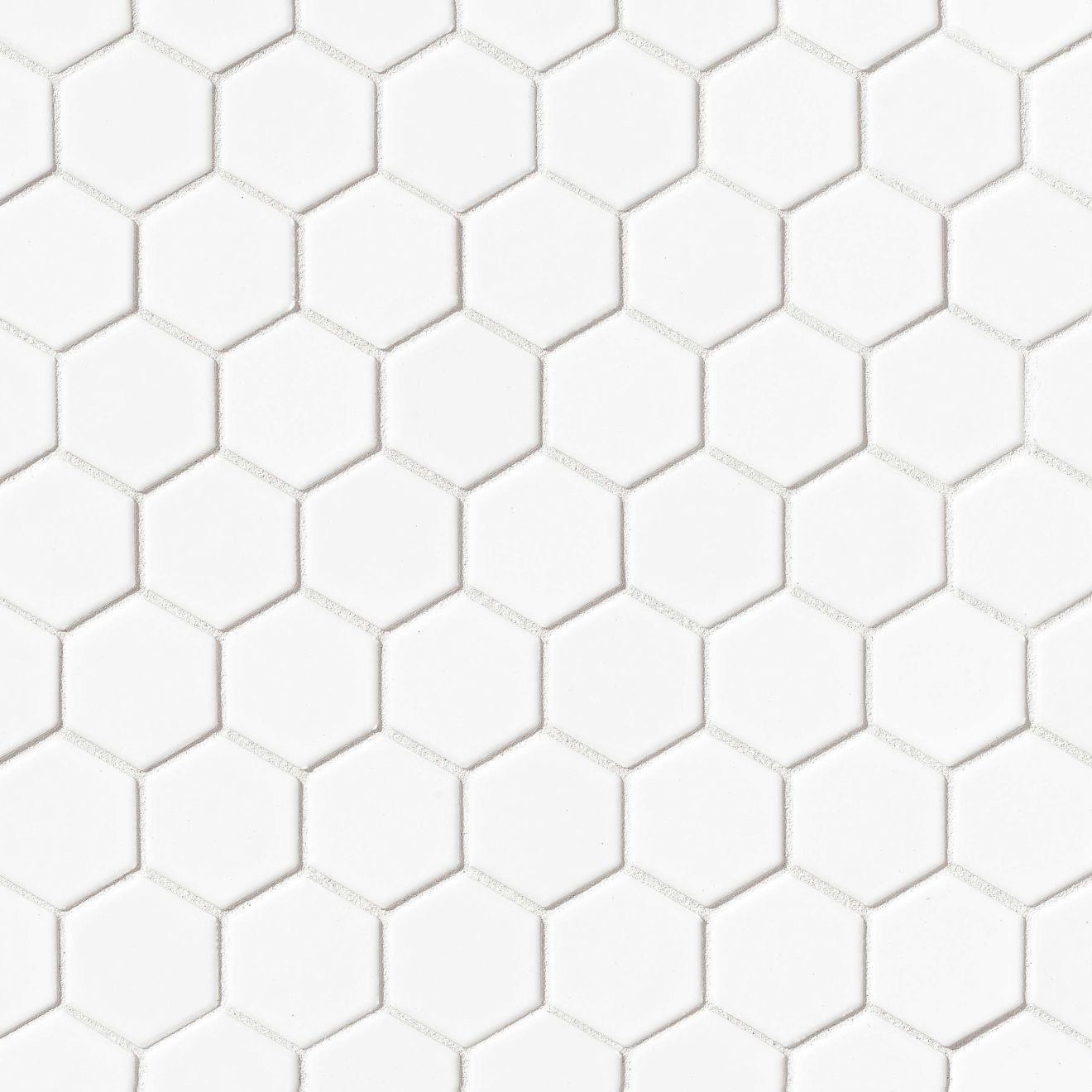 """Le Cafe 2"""" x 2"""" Floor & Wall Mosaic in White"""