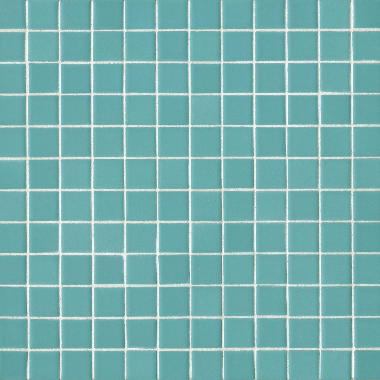 "True 1"" x 1"" Floor & Wall Mosaic in Aqua"