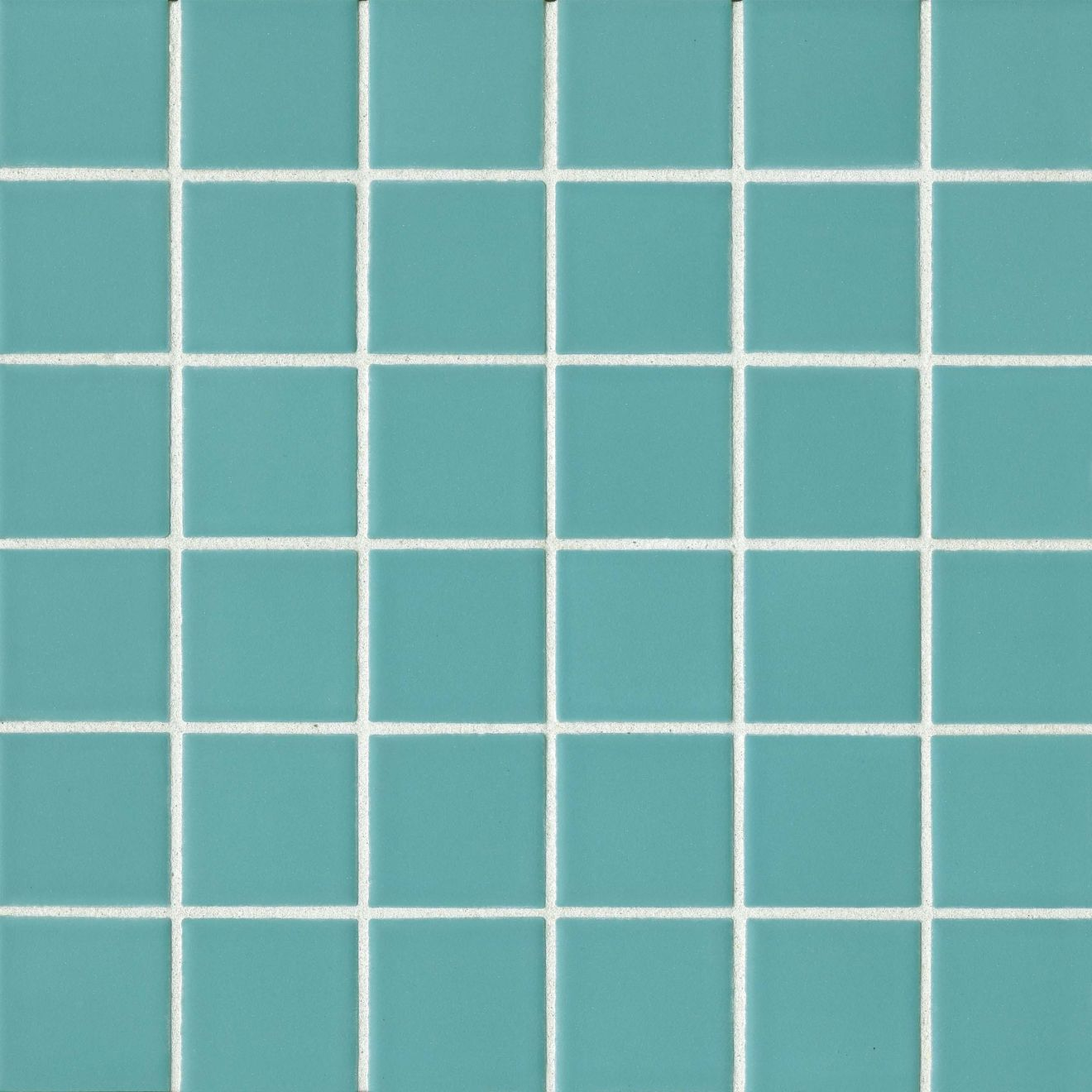 "True 2"" x 2"" Floor & Wall Mosaic in Aqua"
