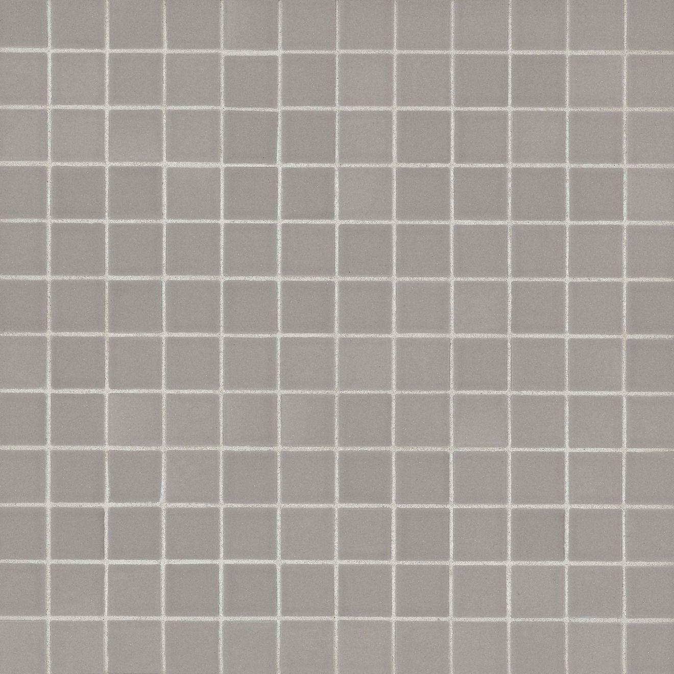 "True 1"" x 1"" Floor & Wall Mosaic in Grey"