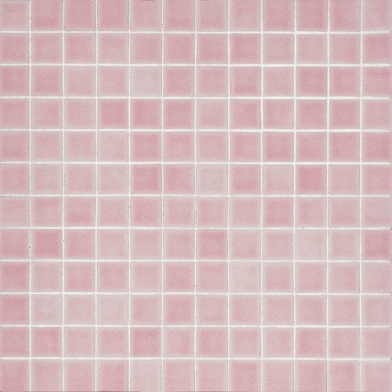 "True 1"" x 1"" Floor & Wall Mosaic in Pink"