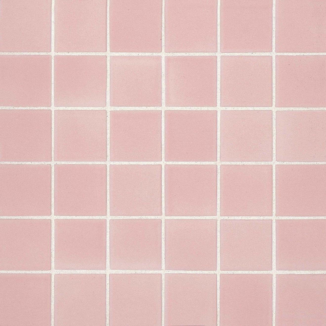 "True 2"" x 2"" Floor & Wall Mosaic in Pink"