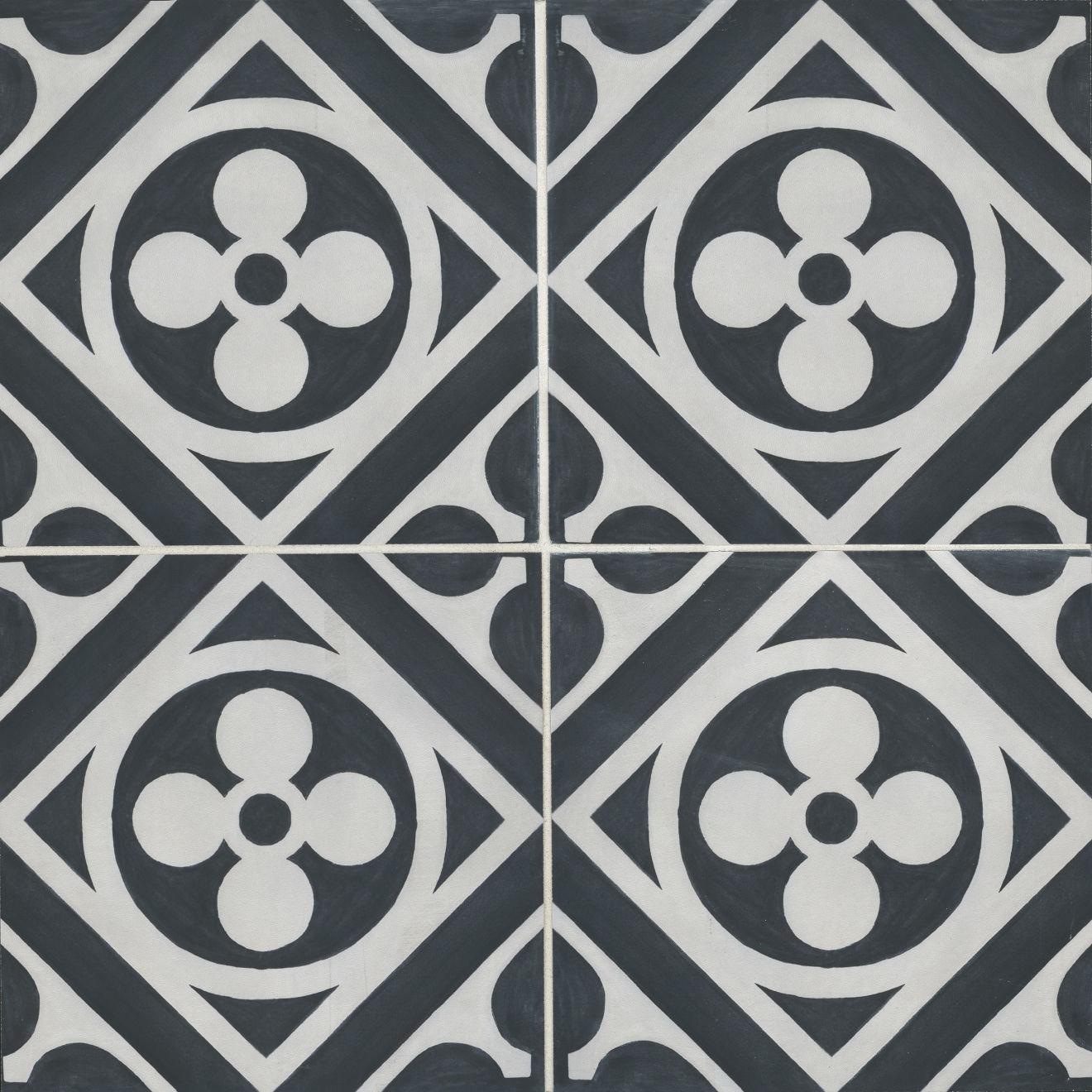 "Chateau 12"" x 12"" Decorative Tile in Canvas Ocean"