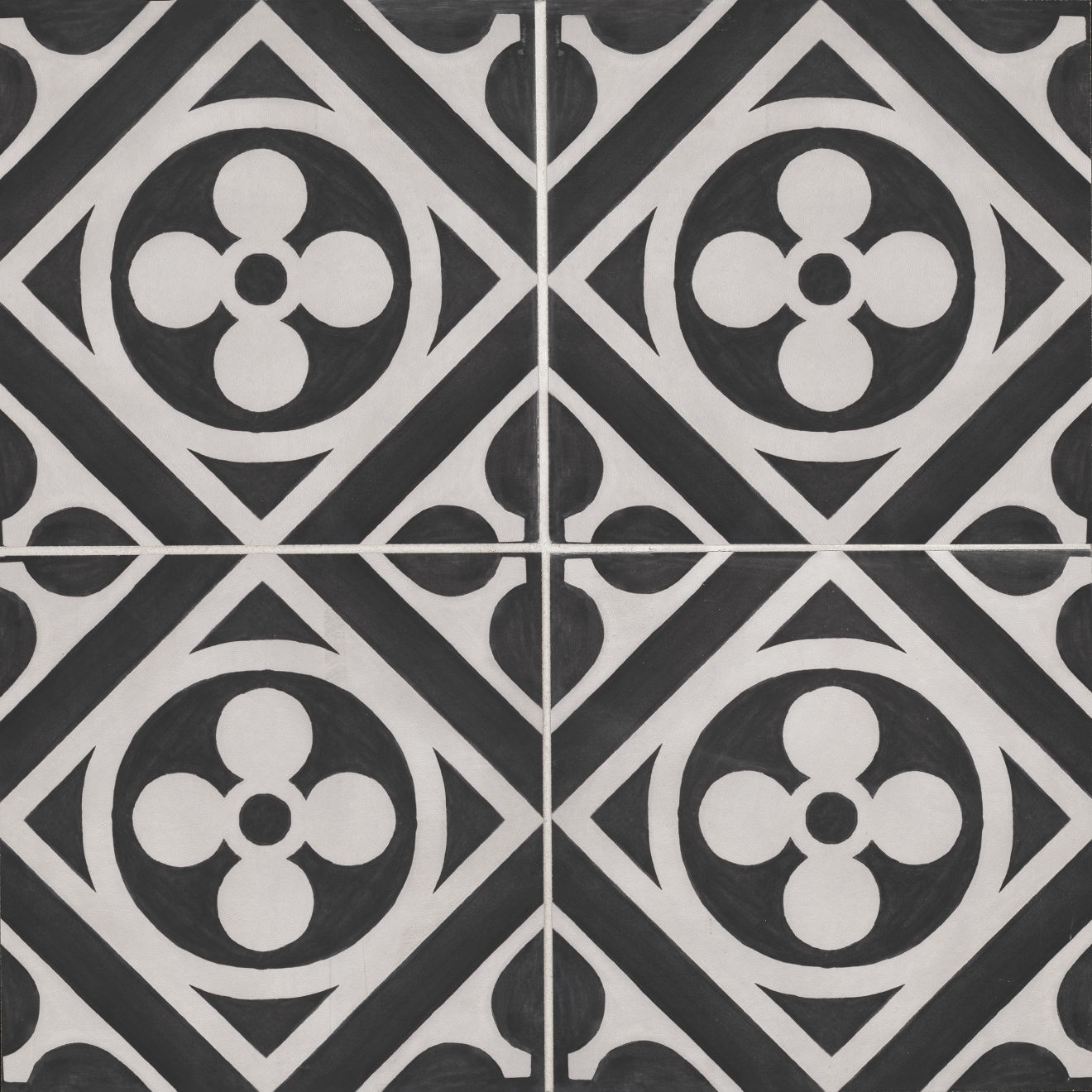 """Chateau 12"""" x 12"""" Decorative Tile in Midnight Canvas"""