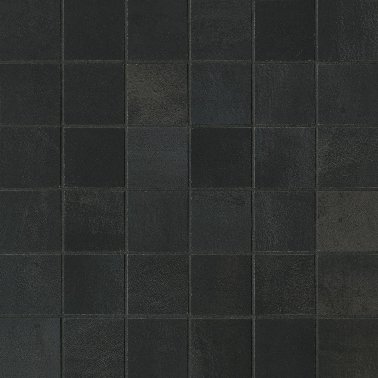 "Chateau 2"" x 2"" Floor & Wall Mosaic in Midnight"