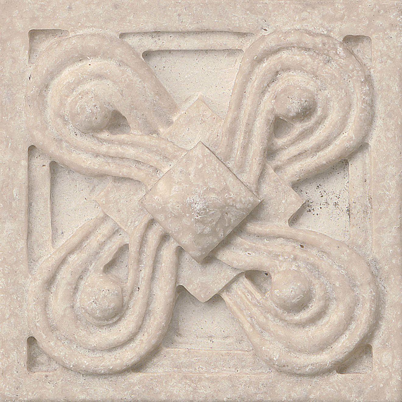 """Marmi Di Napoli 2.25"""" x 2.25"""" Decorative Tile in Creme Brulee"""