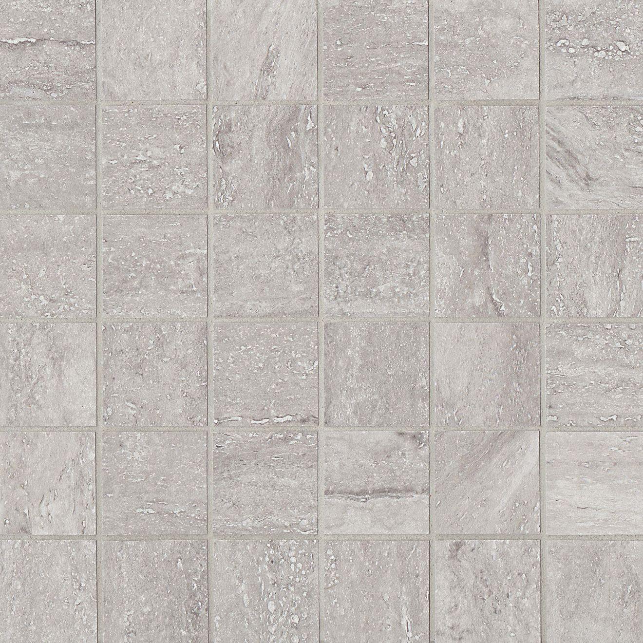 "Toscano 2"" x 2"" Floor & Wall Mosaic in Grigio"