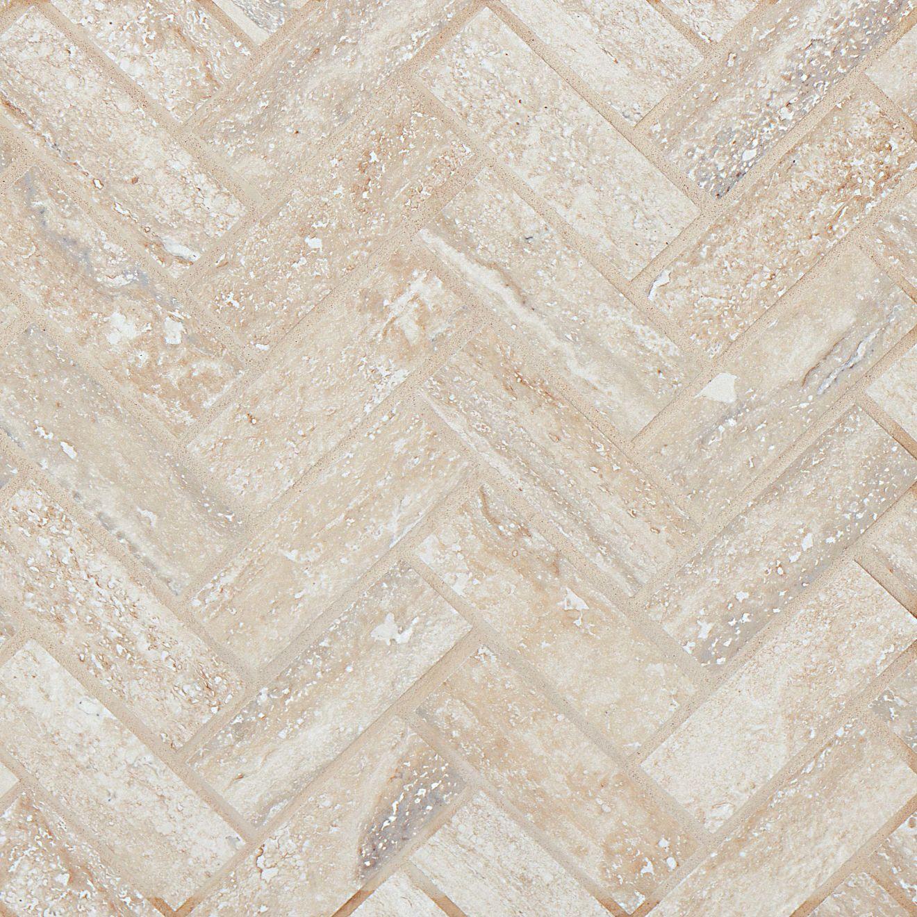 "Toscano 1"" x 4"" Floor & Wall Mosaic in Silver"