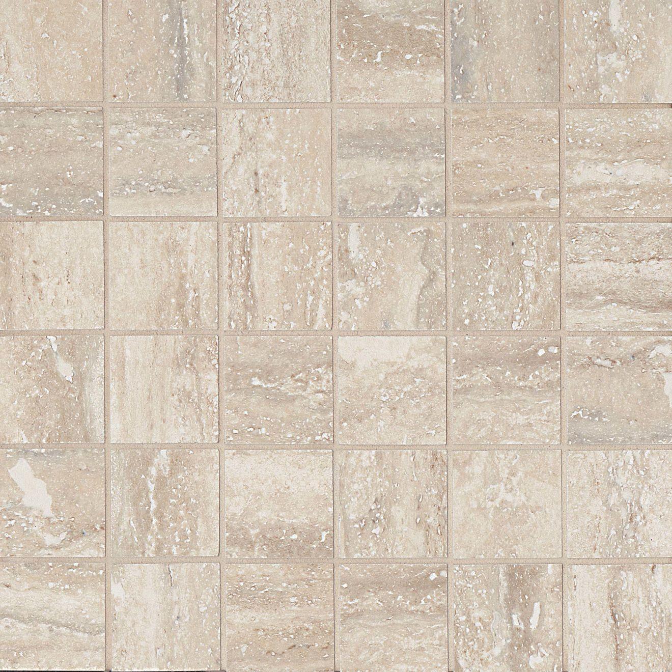 "Toscano 2"" x 2"" Floor & Wall Mosaic in Silver"