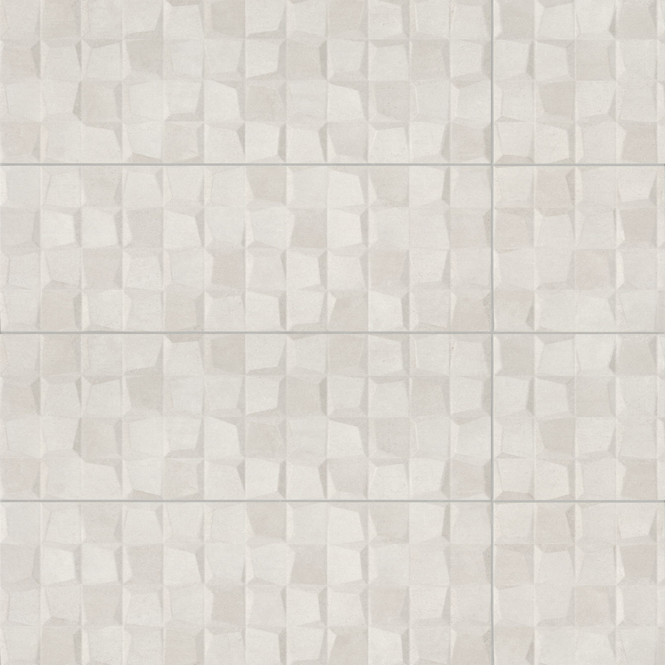 "Calix 12"" x 36"" Matte Ceramic 3D Wall Tile in Grey"