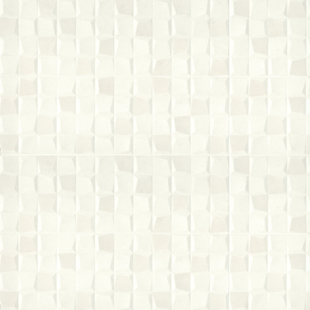 "Calix 12"" x 36"" Matte Ceramic 3D Wall Tile in White"