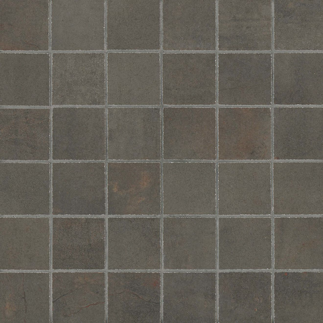 "Rebel 2"" x 2"" Floor & Wall Mosaic in Lead"