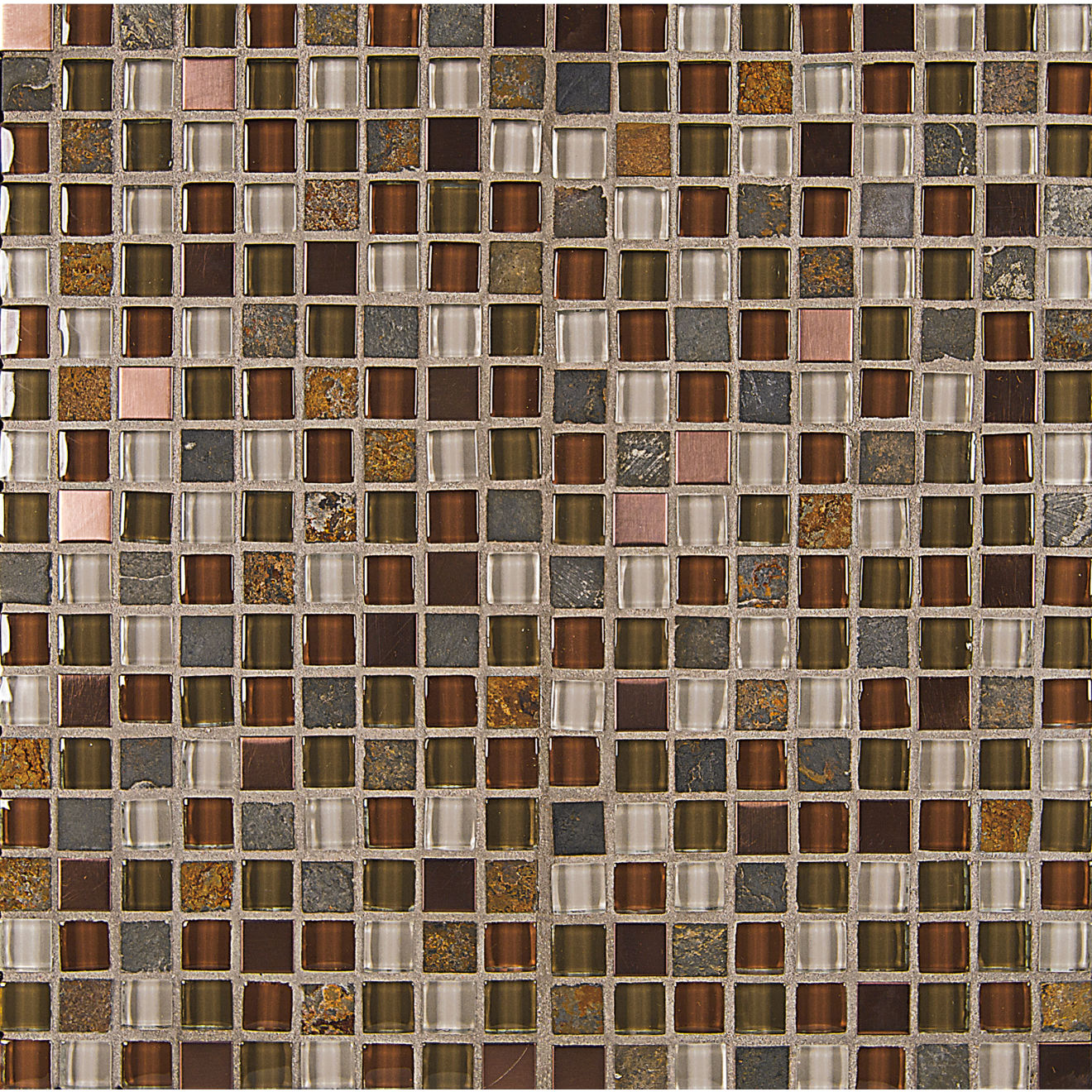 "Elume 5/8"" x 5/8"" Wall Mosaic in Ruby Silk"