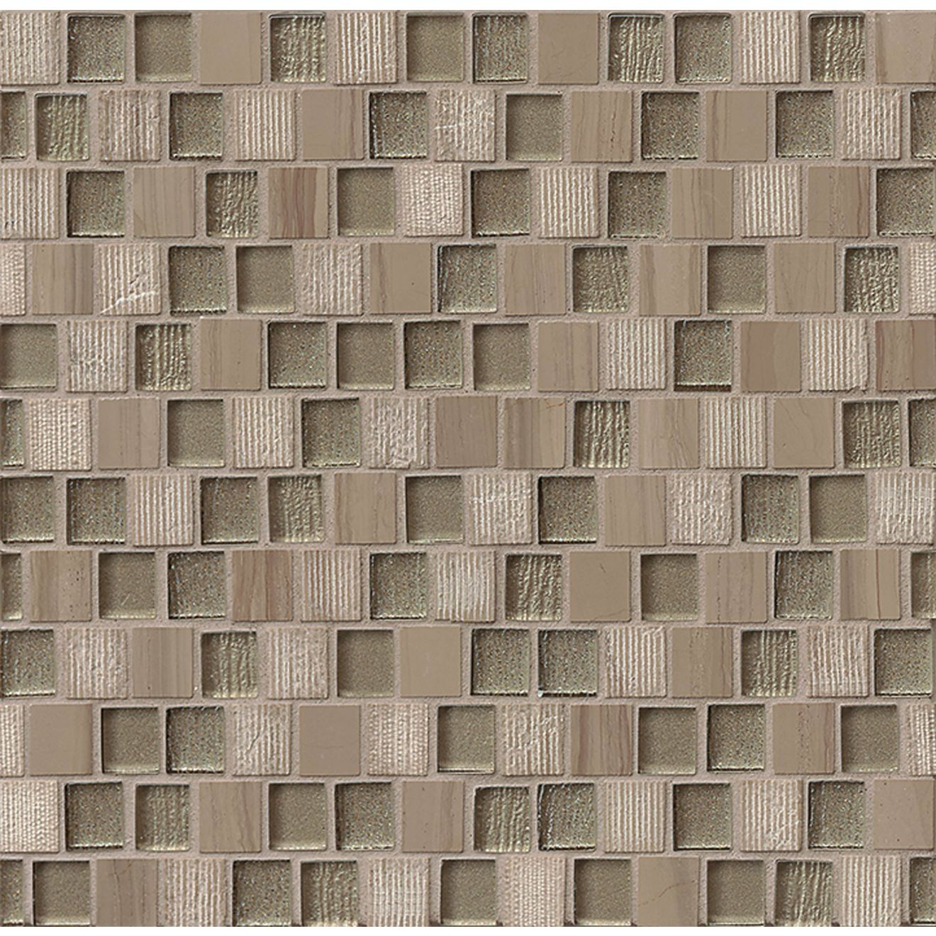 "Tessuto 3/4"" x 1"" Wall Mosaic in Taupe"