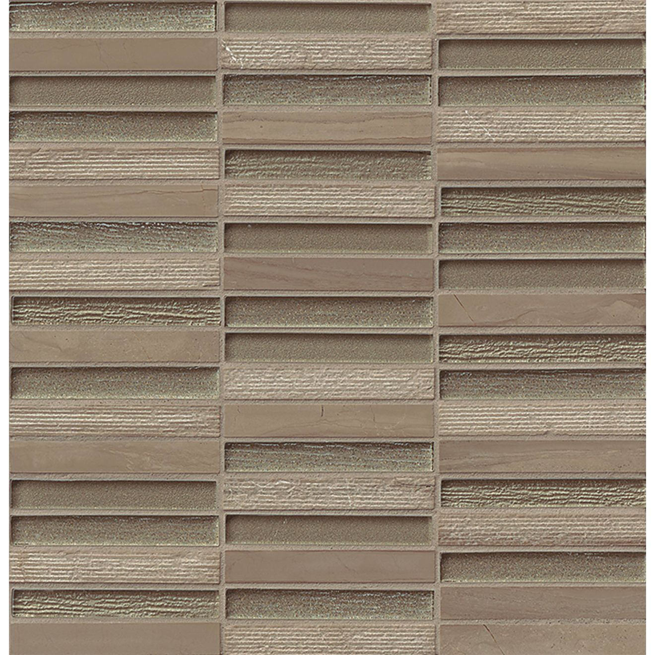 "Tessuto 1/2"" x 4"" Wall Mosaic in Taupe"