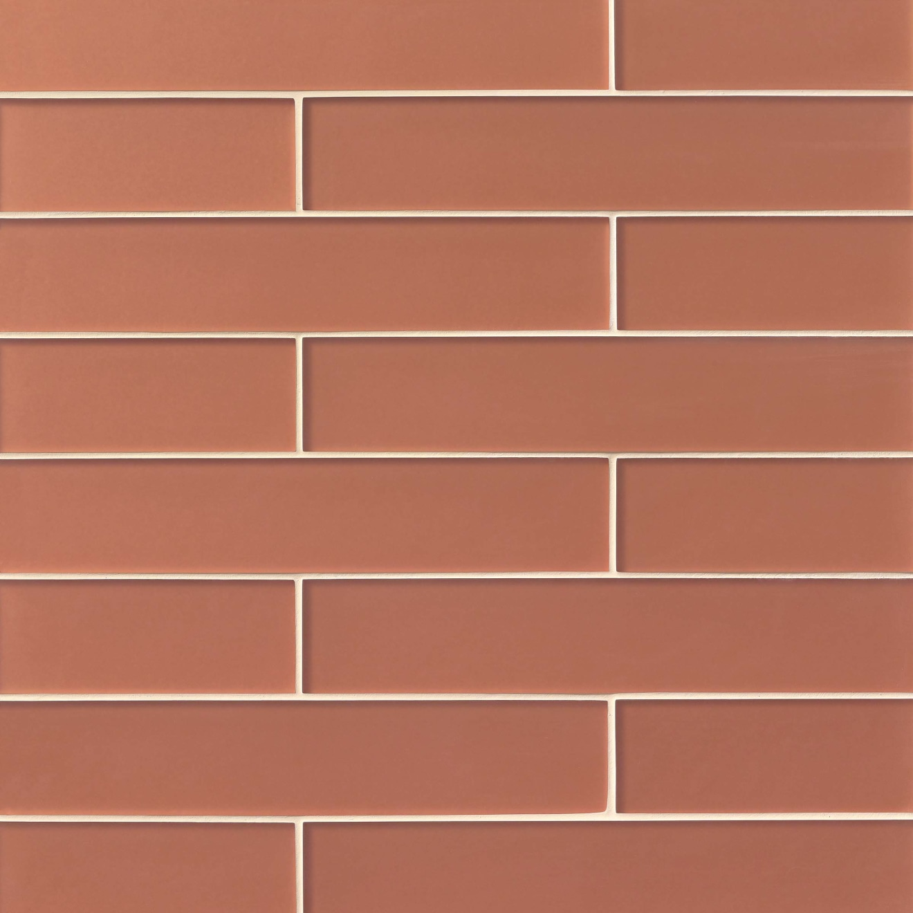"Verve 3"" x 15.75"" Wall Tile in Coral Spice"