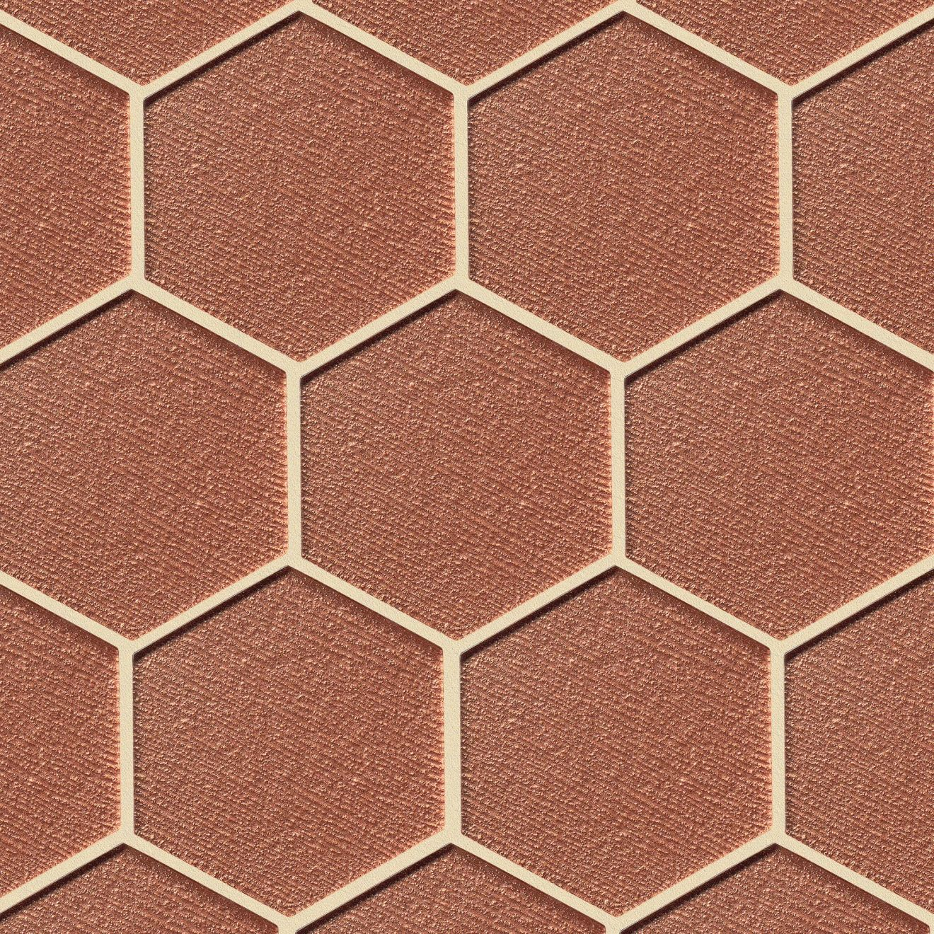 """Verve 4-7/8"""" x 5-5/8"""" Wall Mosaic in Coral Spice"""