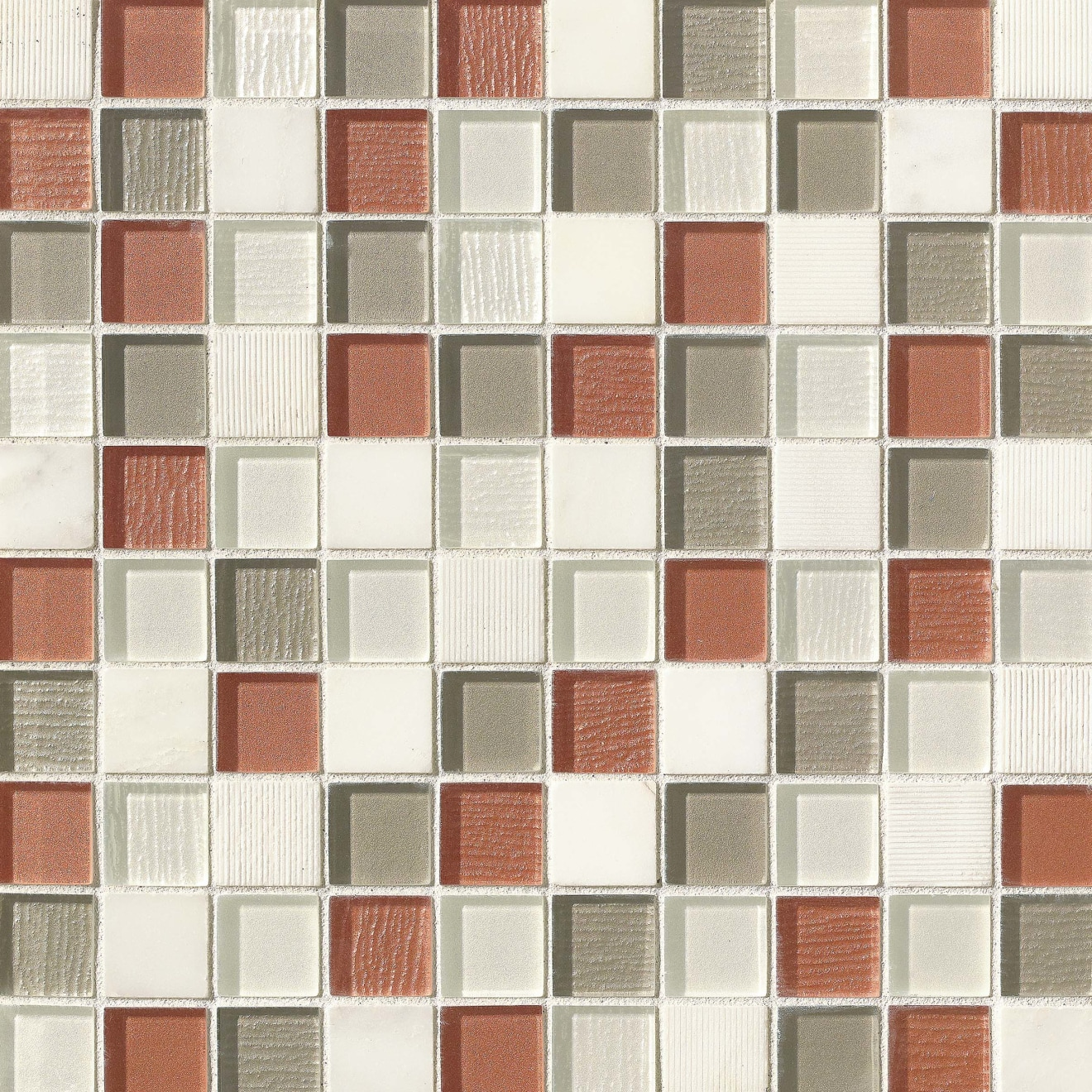 """Verve 1-1/8"""" x 1-1/8"""" Wall Mosaic in Knockout"""
