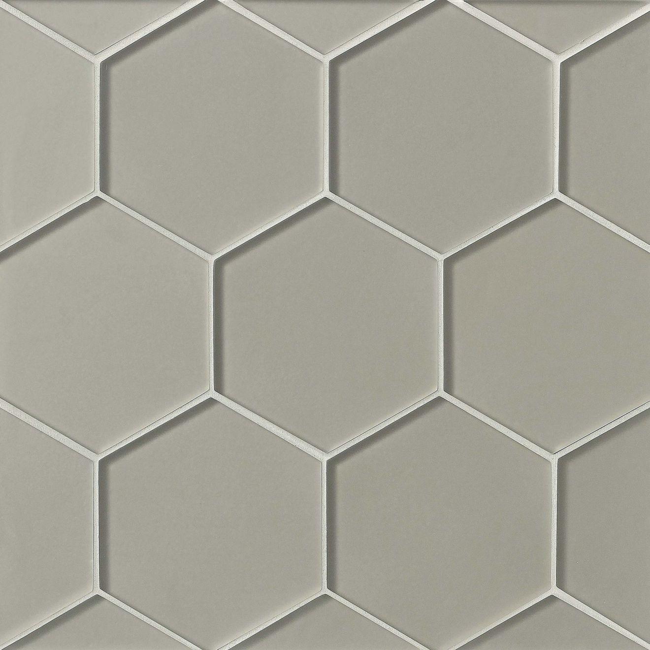 "Verve 4-7/8"" x 5-5/8"" Wall Mosaic in Tinsel Grey"