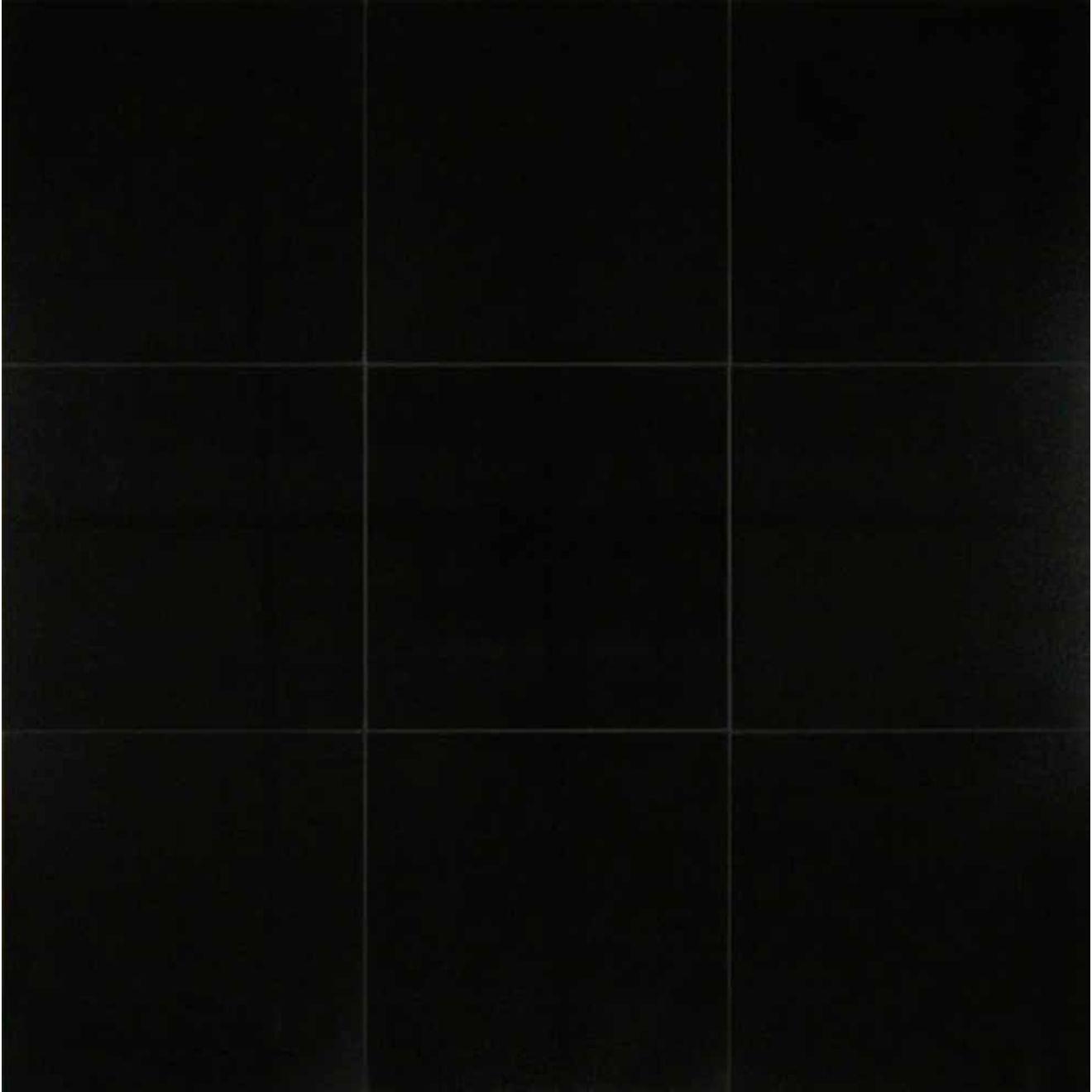 "Absolute Black 18"" x 18"" Honed Granite Tile"