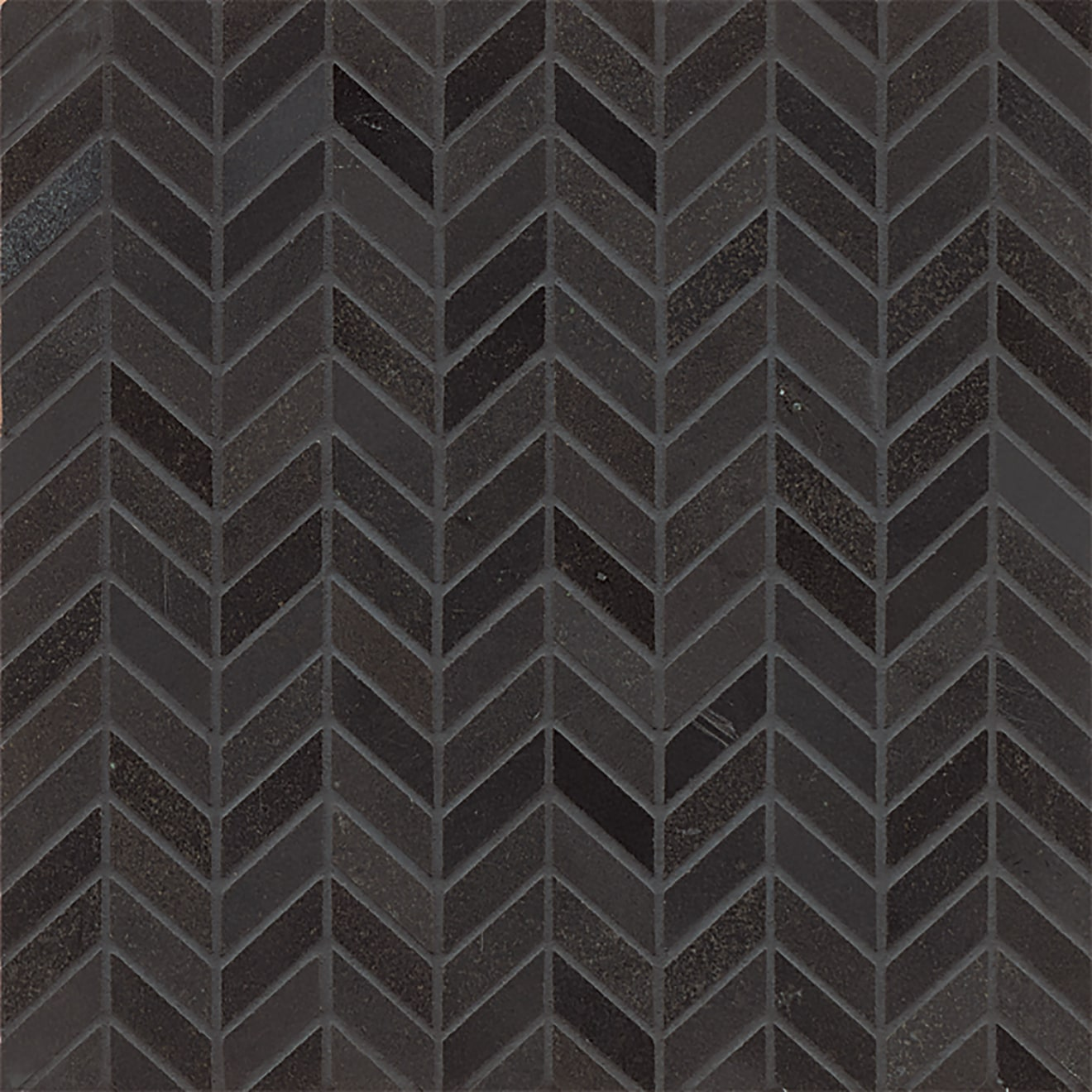 Absolute Black Chevron Polished Granite Mosaic Tile