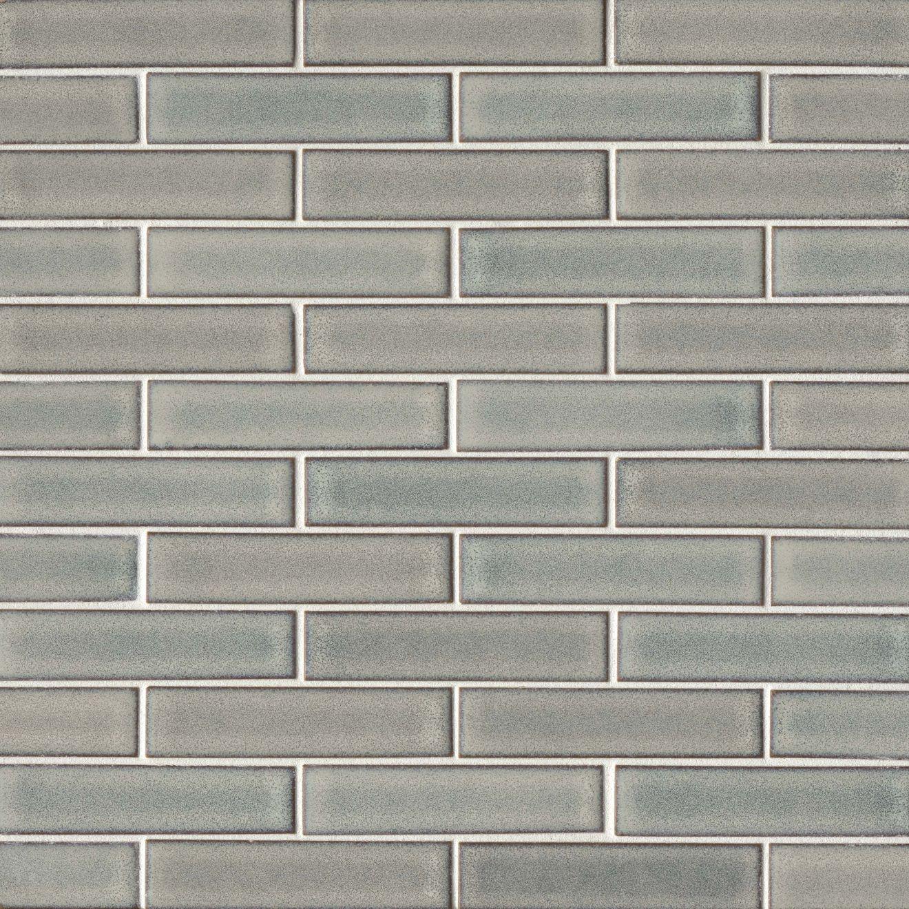 """Seni 1"""" x 4"""" Floor & Wall Mosaic in Grey"""