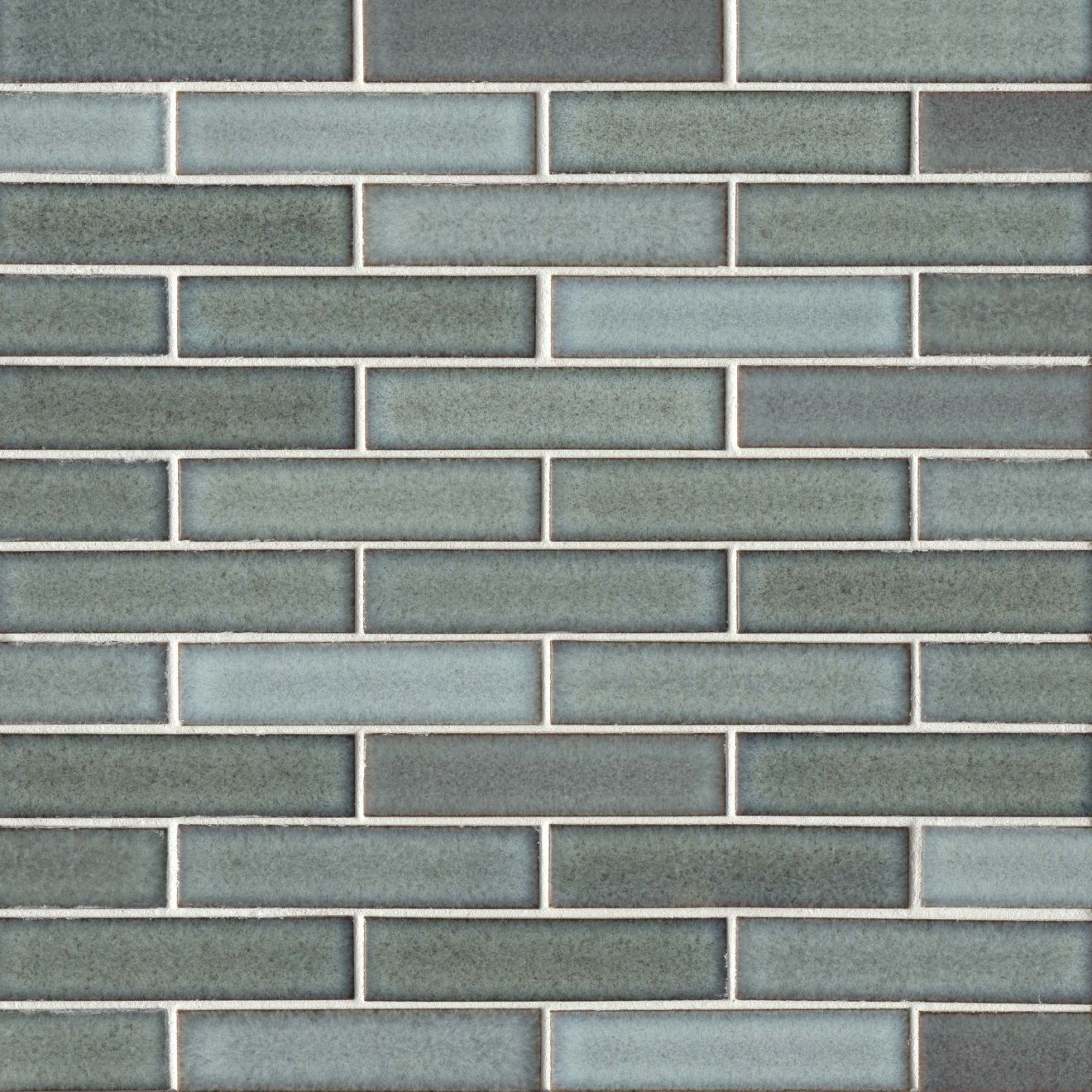 "Seni 1"" x 4"" Floor & Wall Mosaic in Teal"