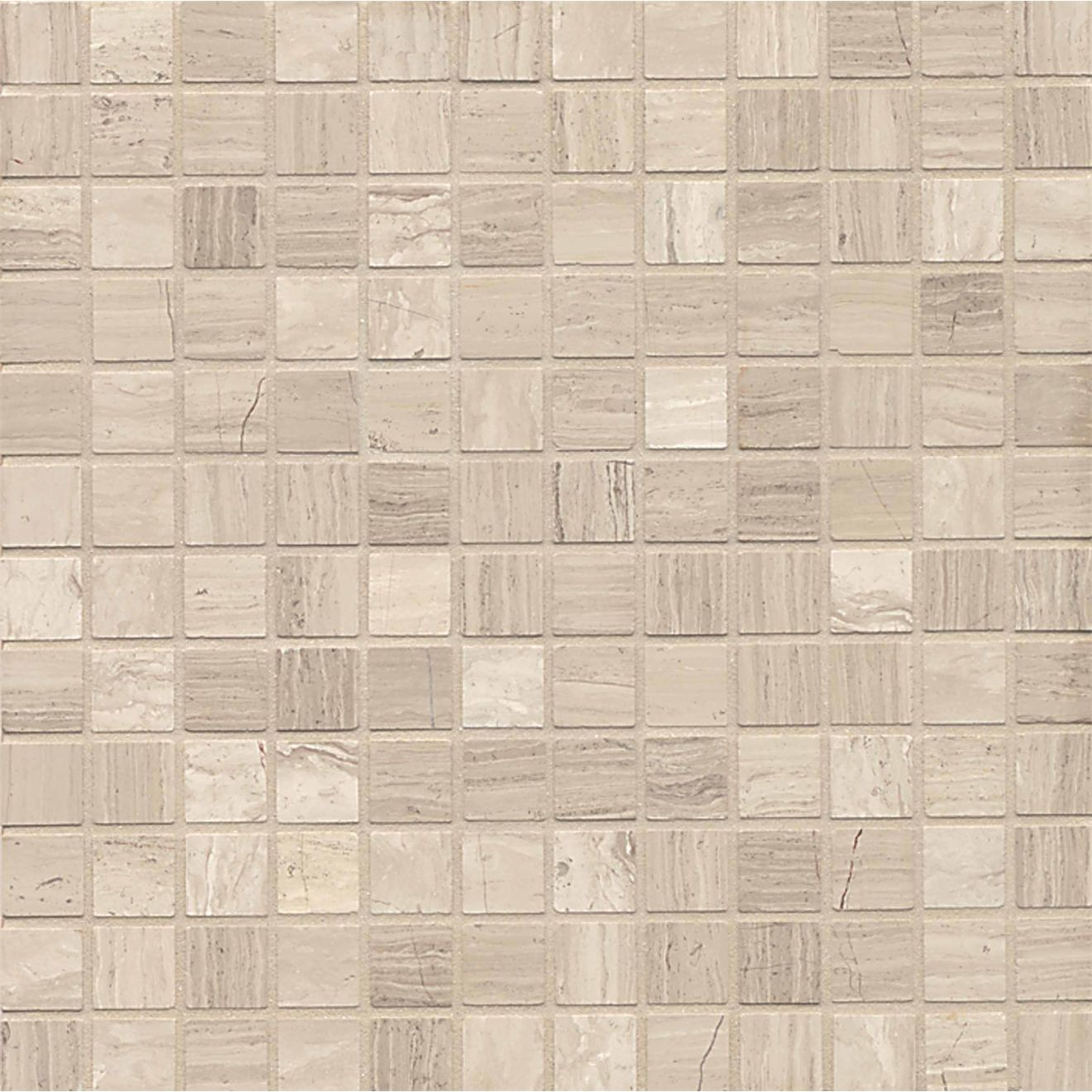 "Ashen Grey 1"" x 1"" Floor & Wall Mosaic"