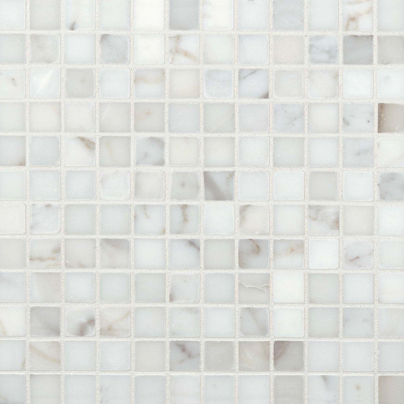 """Calacatta 1"""" x 1"""" Floor & Wall Mosaic"""