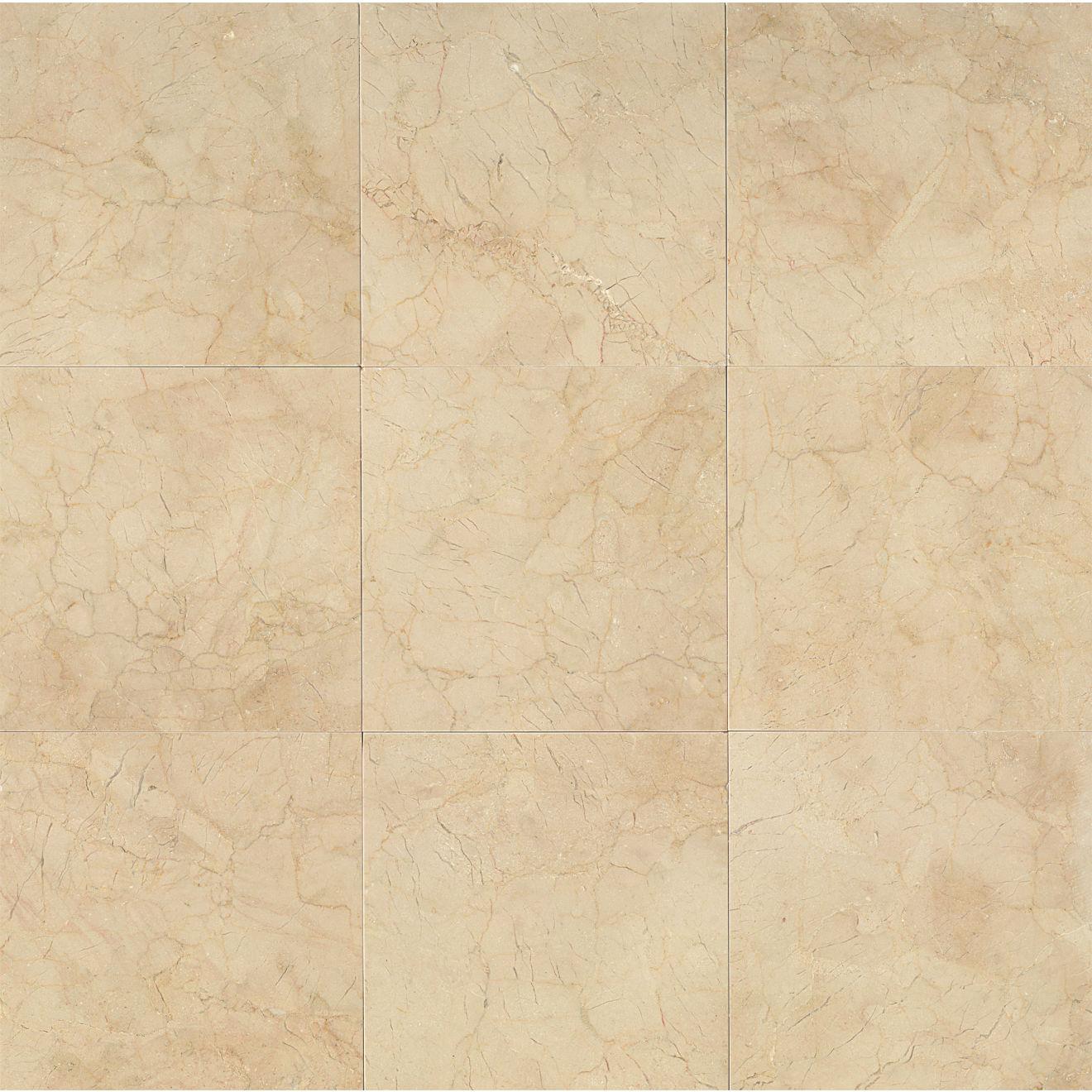 "Crema Marfil Classic 12"" x 12"" Floor & Wall Tile"