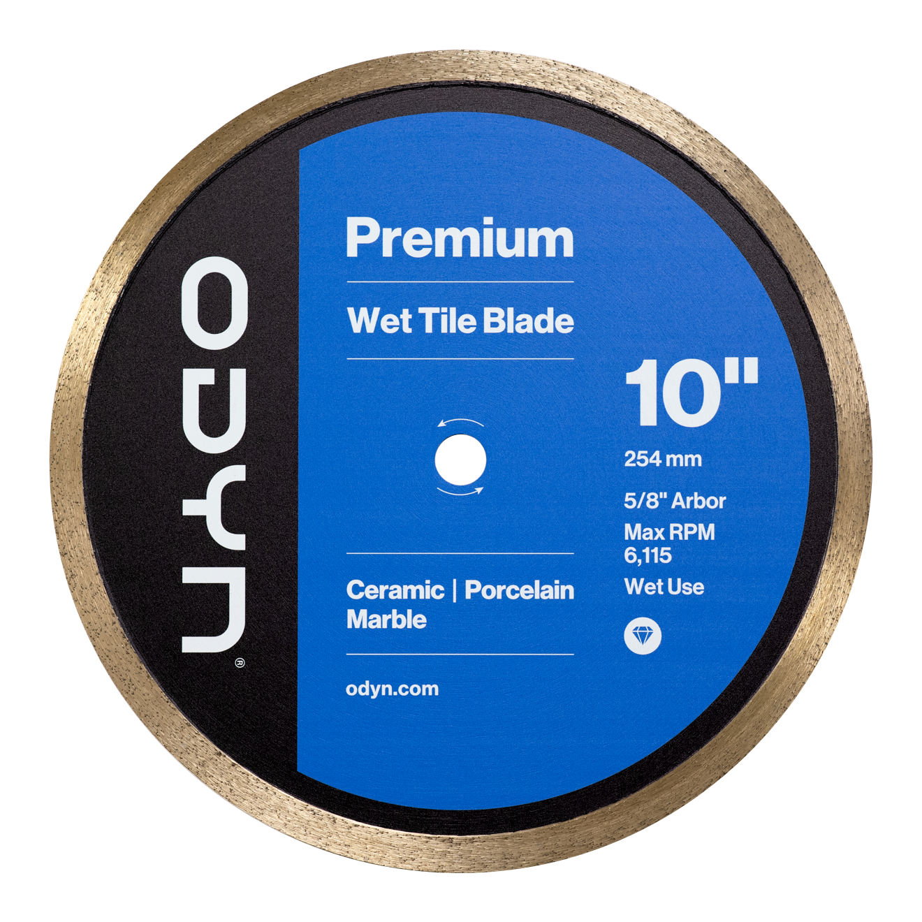 Odyn 10 in. Premium Wet Tile Blade