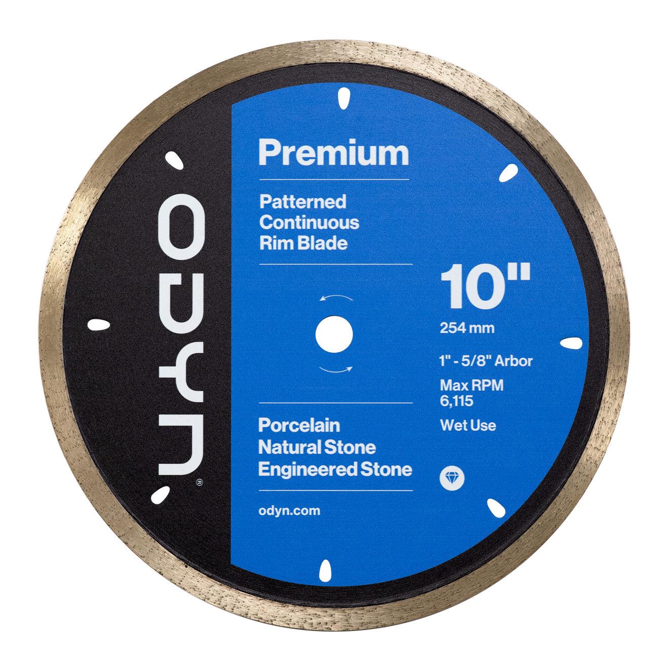Odyn 10 in. Premium Pattern Continuous Rim Blade