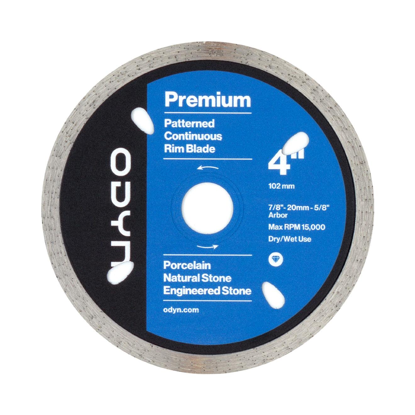 Odyn 4 in. Premium Pattern Continuous Rim Blade