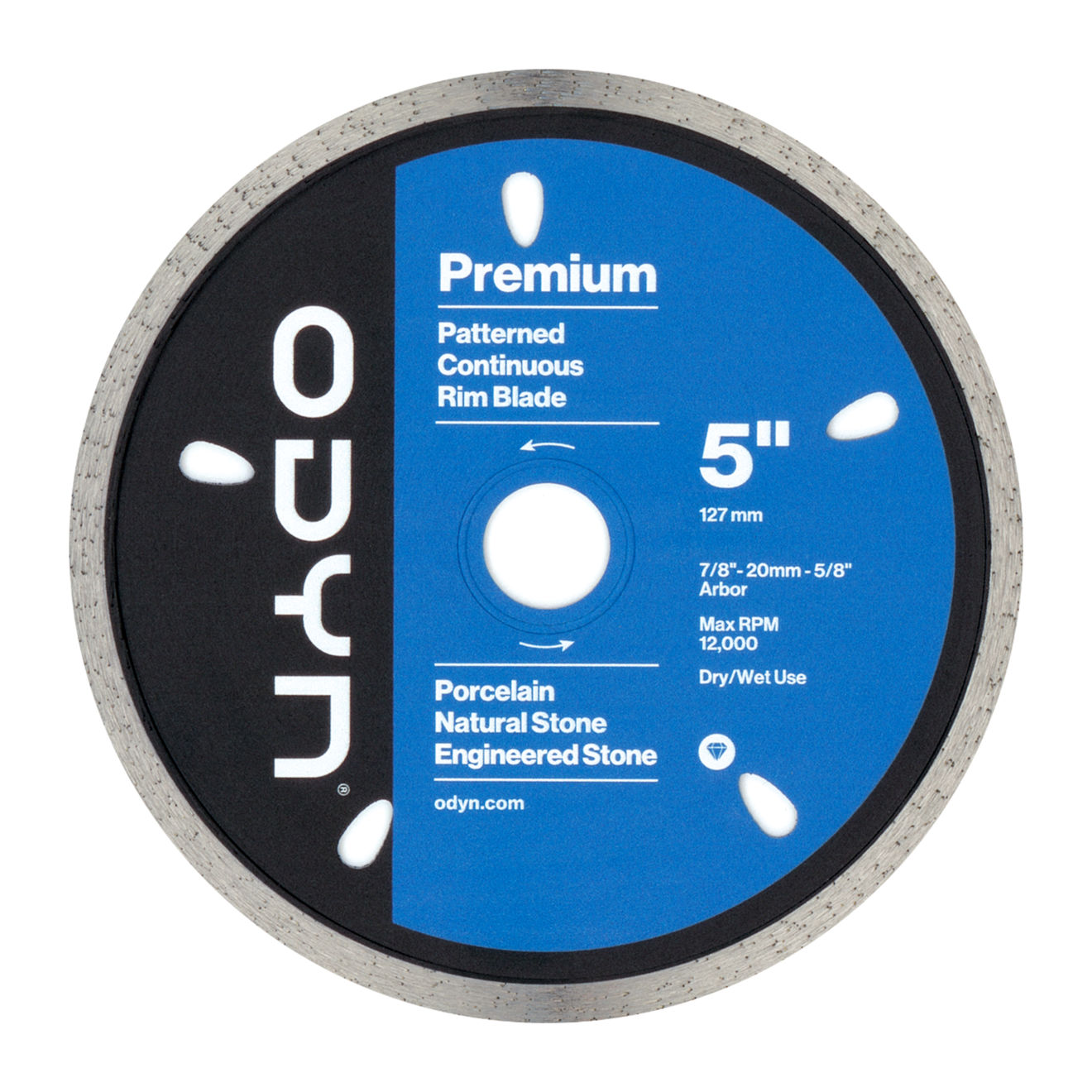 Odyn 5 in. Premium Pattern Continuous Rim Blade