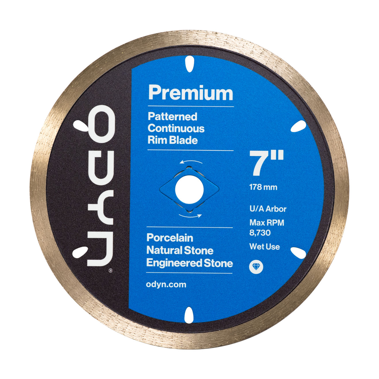 Odyn 7 in. Premium Pattern Continuous Rim Blade