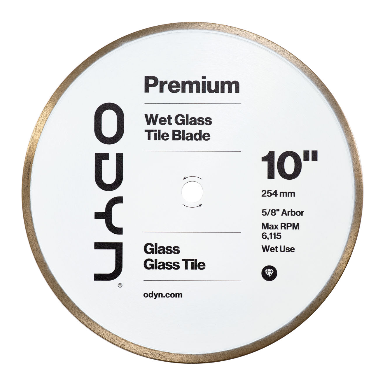 Odyn 10 in. Premium Wet Glass Tile Blade