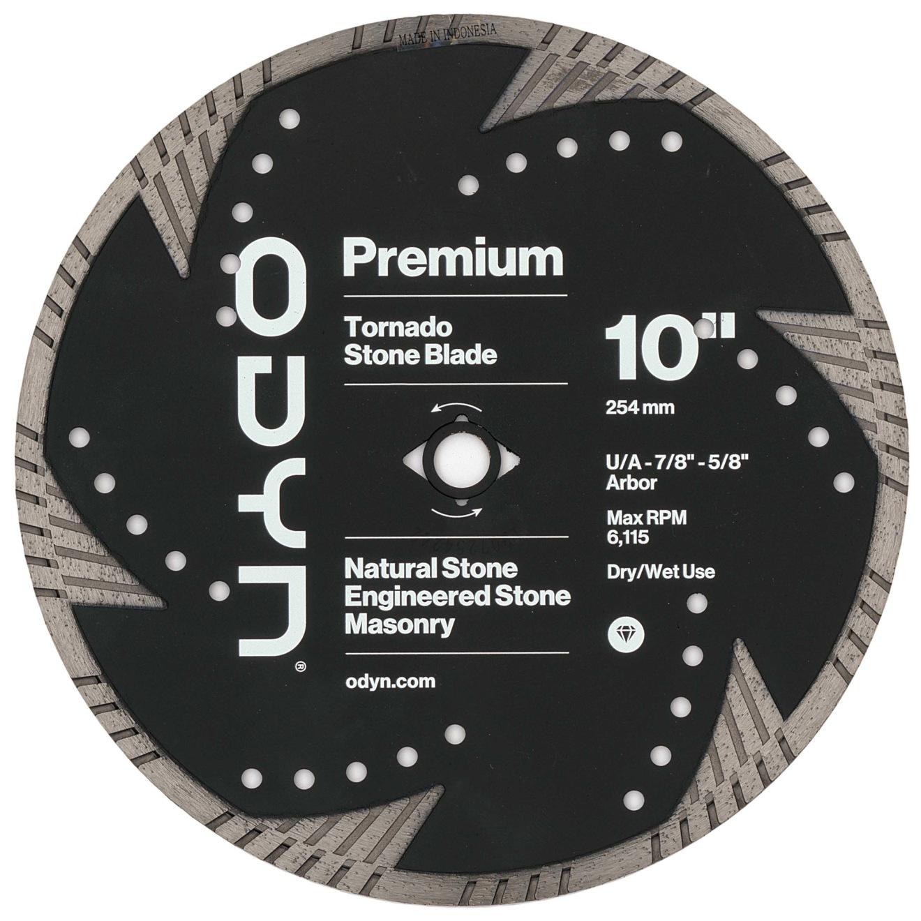 Odyn 10 in. Premium Tornado Stone Blade