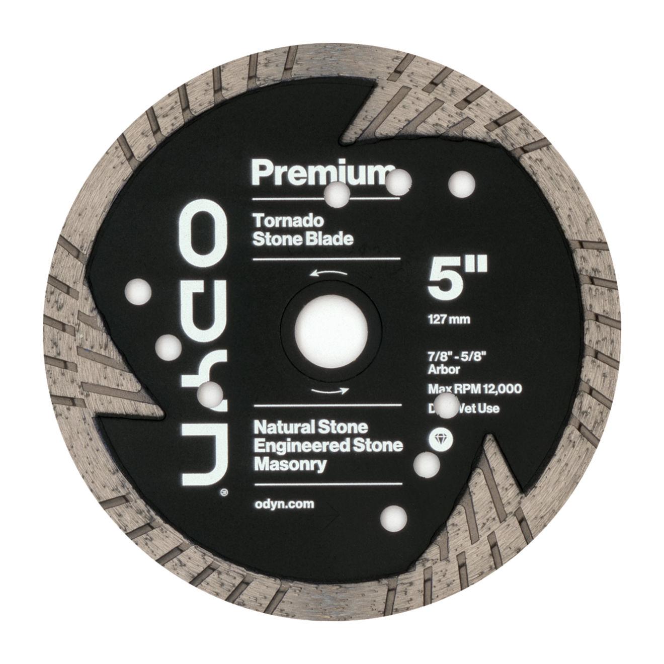 Odyn 5 in. Premium Tornado Stone Blade