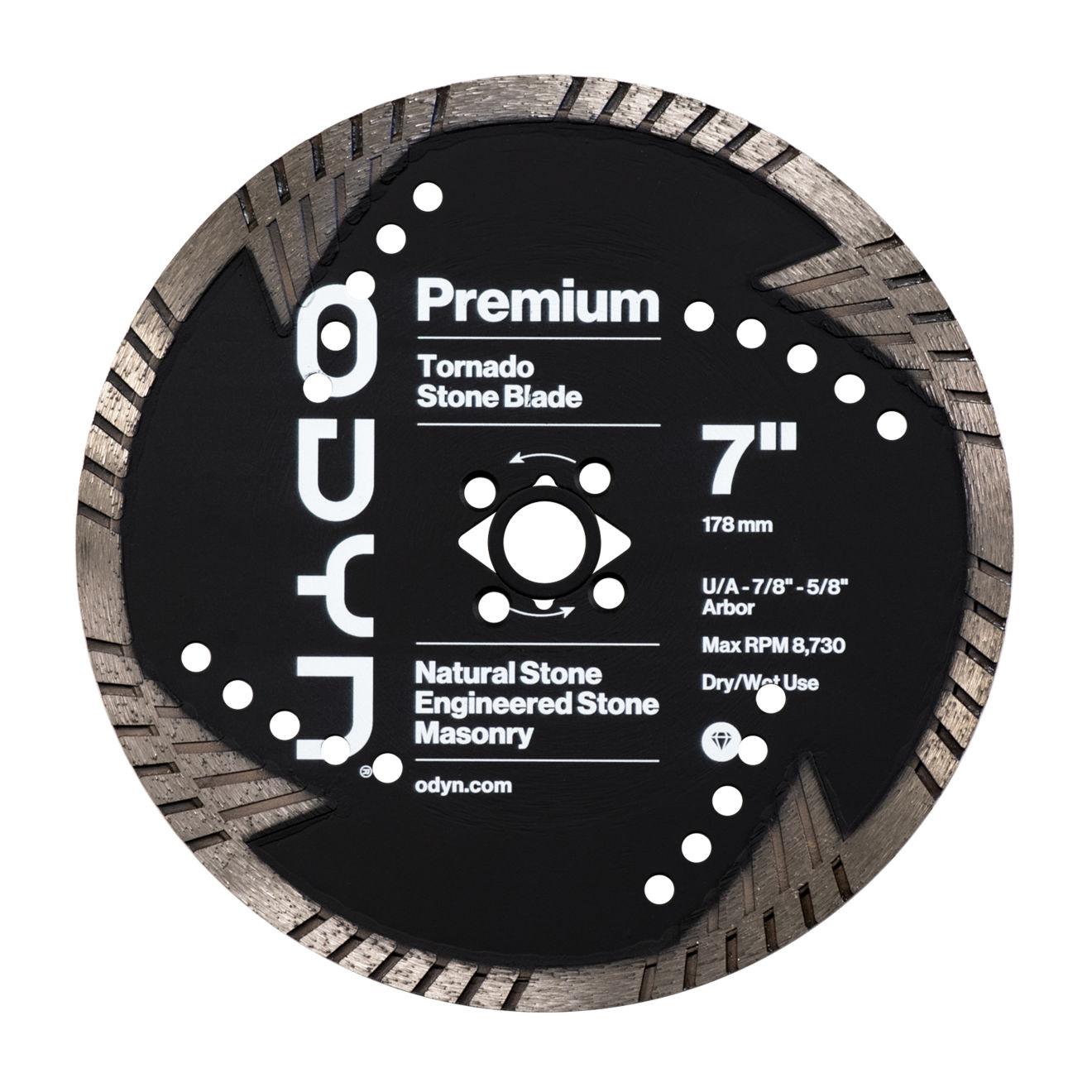 Odyn 7 in. Premium Tornado Stone Blade