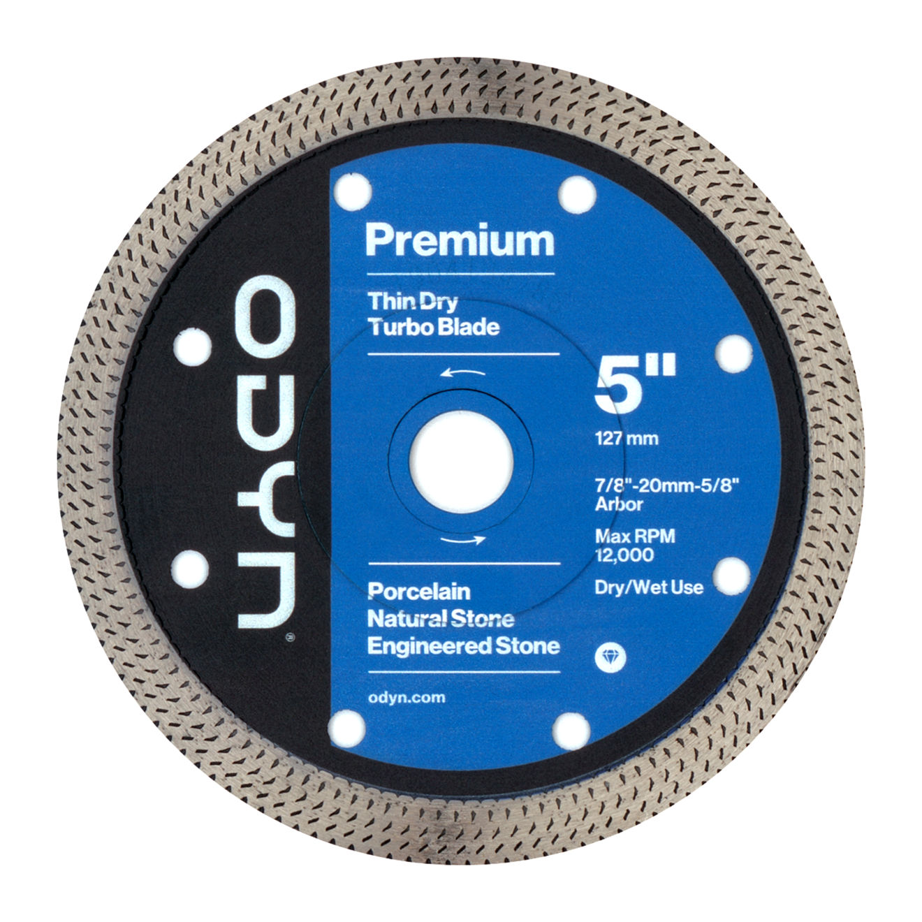 Odyn 5 in. Premium Thin Dry Turbo Blade